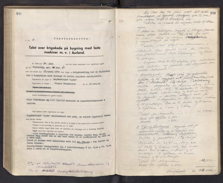 SAB, Lensmannen i Aurland, 0012/L0003: Branntakstprotokoll, 1917-1944, p. 240