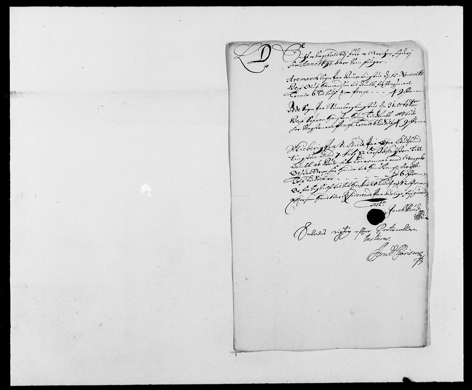 RA, Rentekammeret inntil 1814, Reviderte regnskaper, Fogderegnskap, R01/L0010: Fogderegnskap Idd og Marker, 1690-1691, p. 199