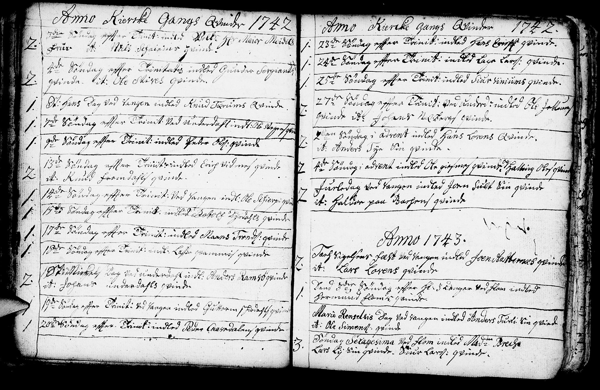 SAB, Aurland Sokneprestembete*, Parish register (official) no. A 3, 1735-1761, p. 141