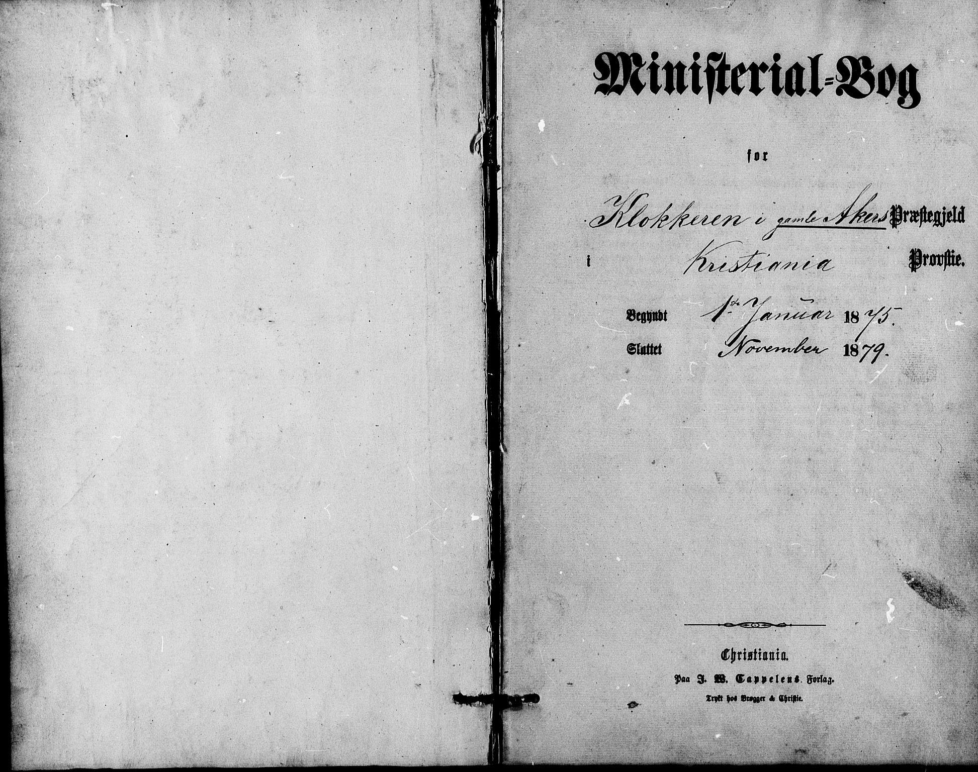 SAO, Gamle Aker prestekontor Kirkebøker, G/L0004: Parish register (copy) no. 4, 1875-1879