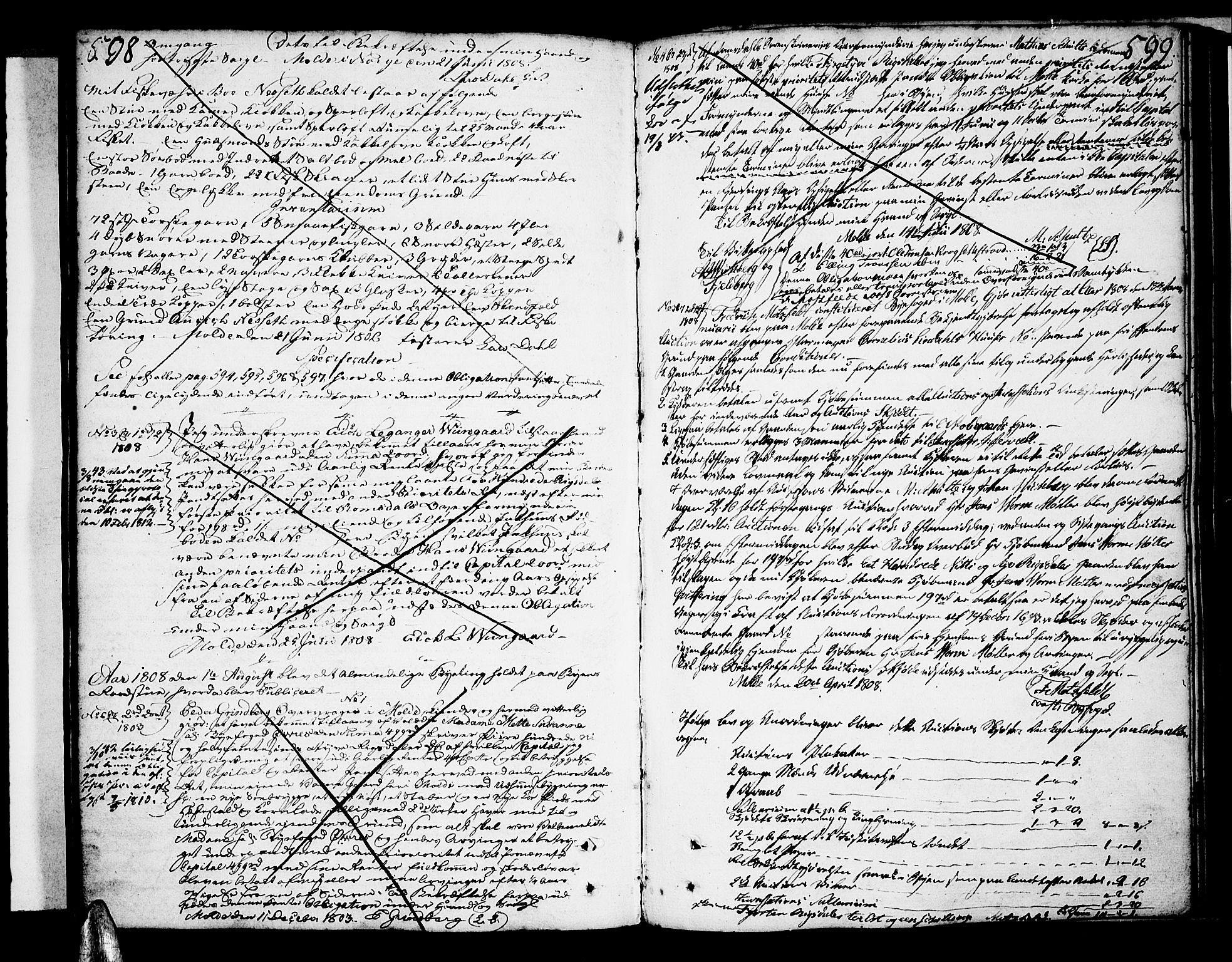 SAT, Molde byfogd, 2/2C/L0001: Mortgage book no. 1, 1748-1823, p. 598-599