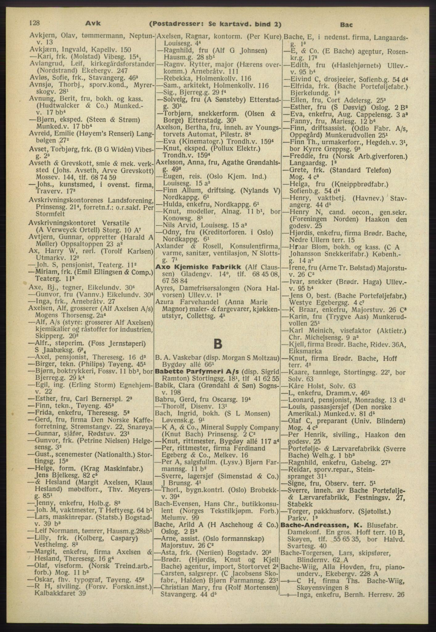 PUBL, Kristiania/Oslo adressebok, 1960-1961, p. 128
