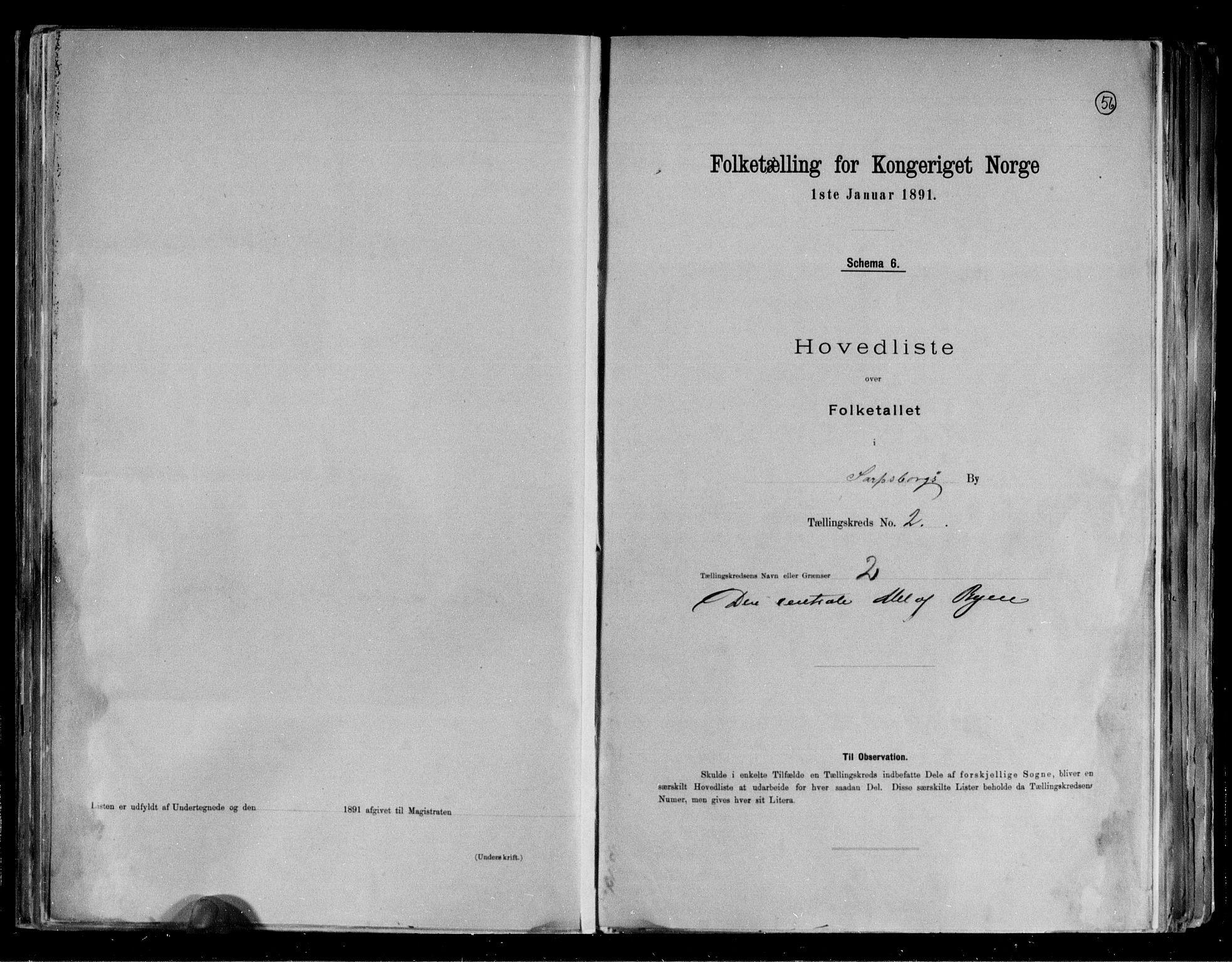 RA, 1891 census for 0102 Sarpsborg, 1891, p. 8