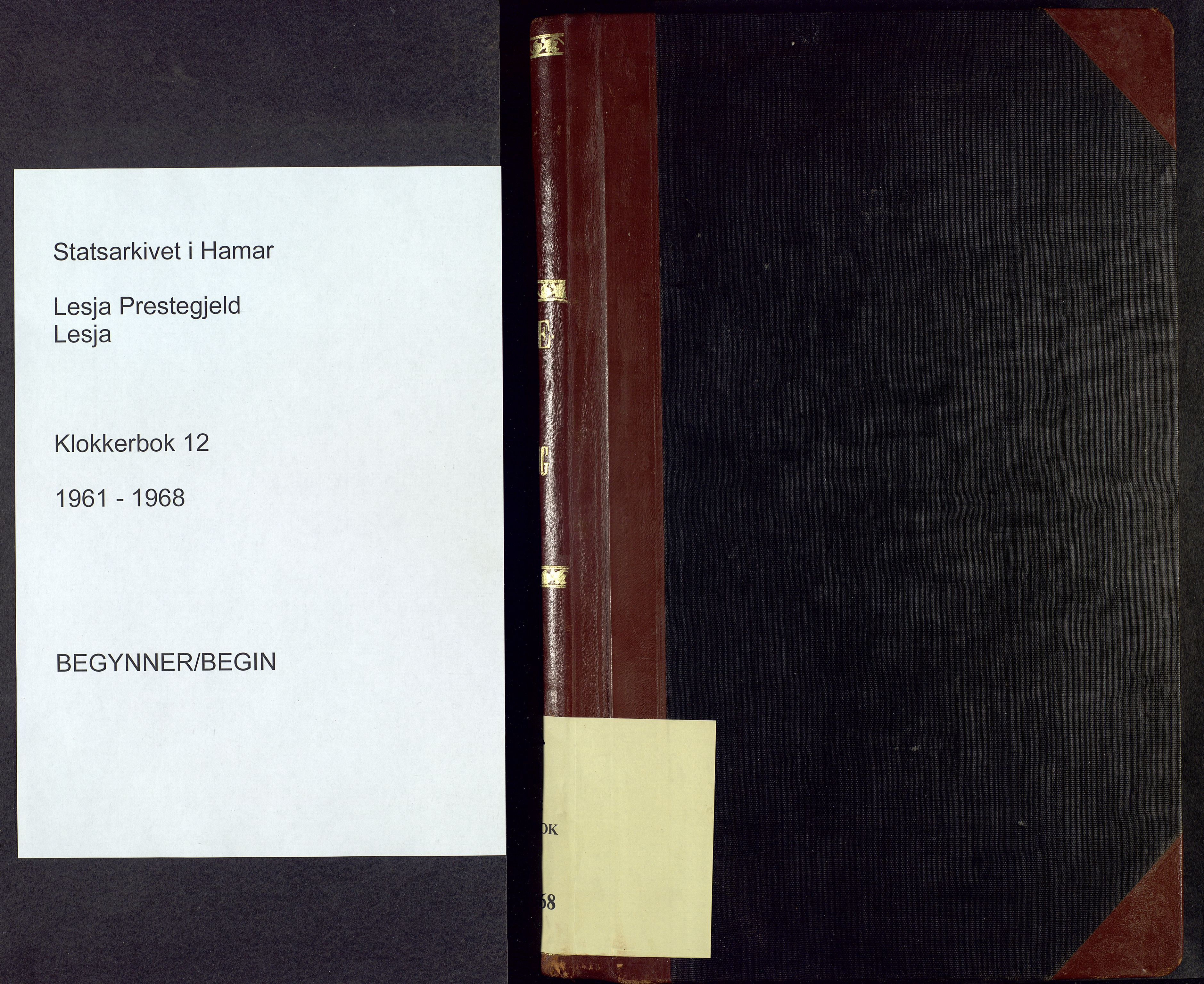 SAH, Lesja prestekontor, Parish register (copy) no. 12, 1961-1968