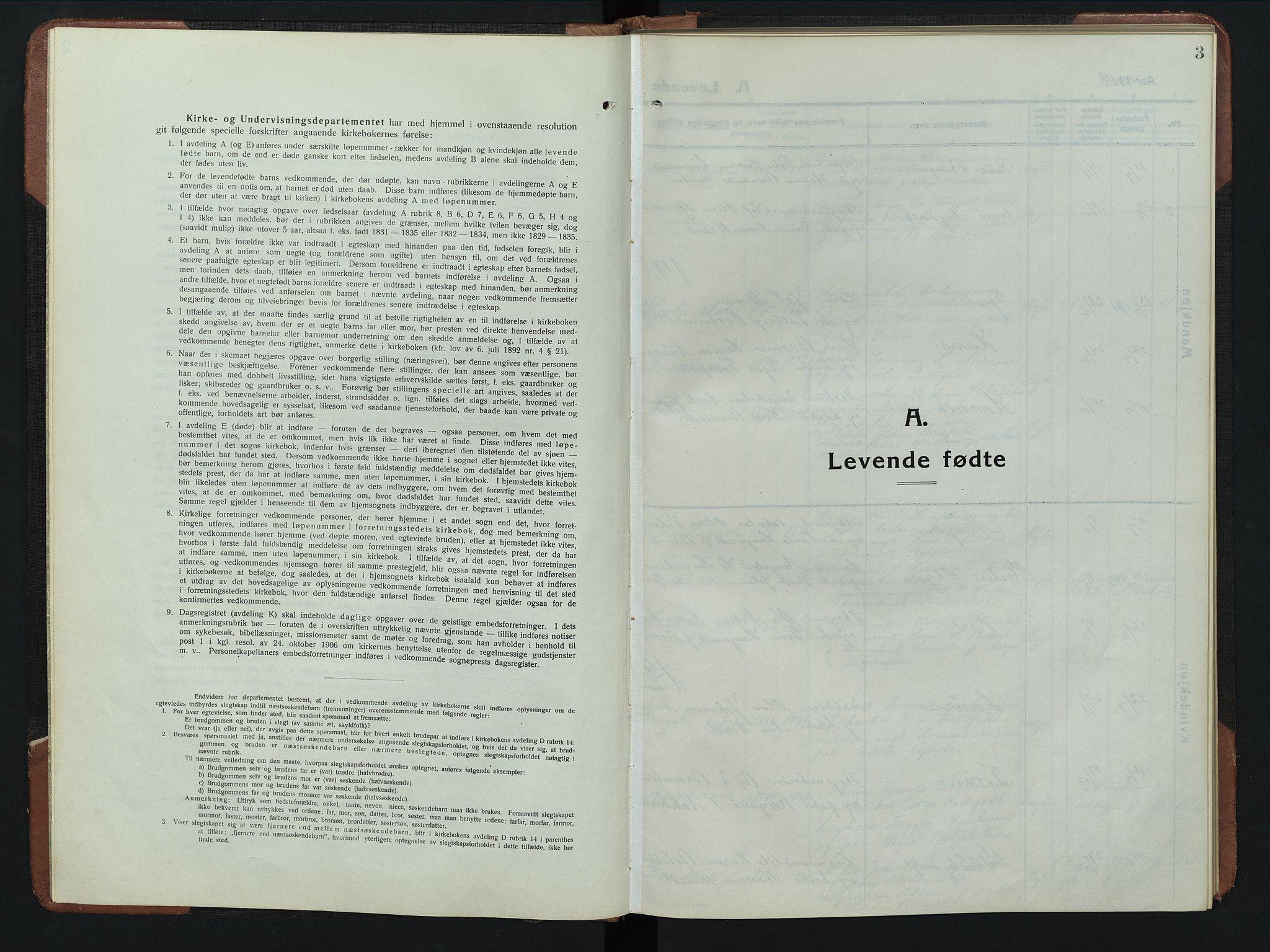 SAH, Rendalen prestekontor, H/Ha/Hab/L0008: Parish register (copy) no. 8, 1914-1948, p. 3