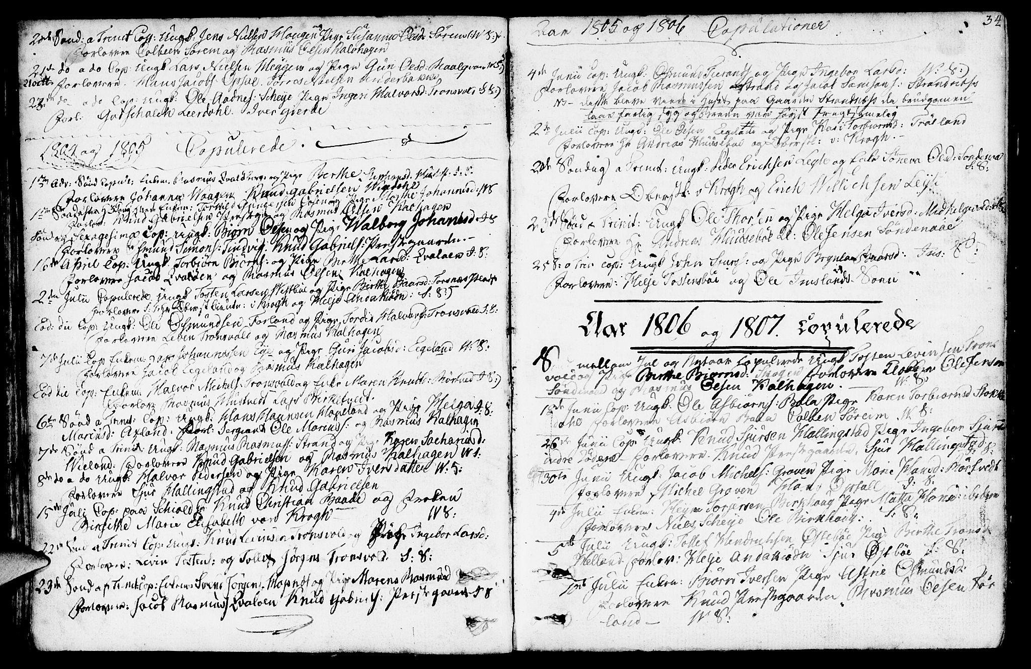SAST, Vikedal sokneprestkontor, IV: Parish register (official) no. A 2, 1779-1817, p. 34