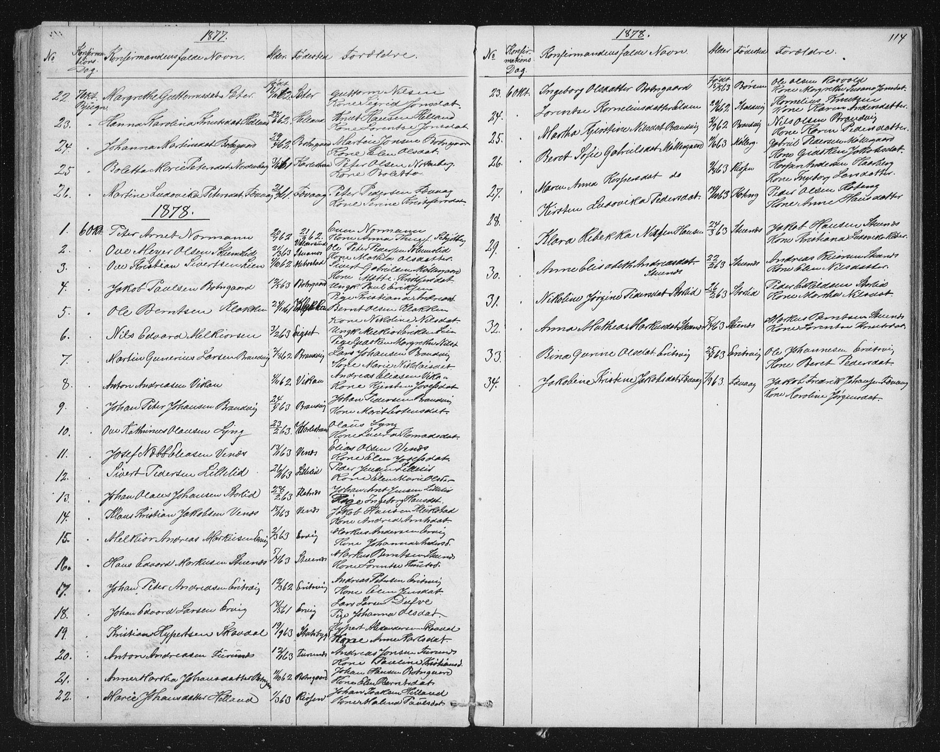 SAT, Ministerialprotokoller, klokkerbøker og fødselsregistre - Sør-Trøndelag, 651/L0647: Parish register (copy) no. 651C01, 1866-1914, p. 114