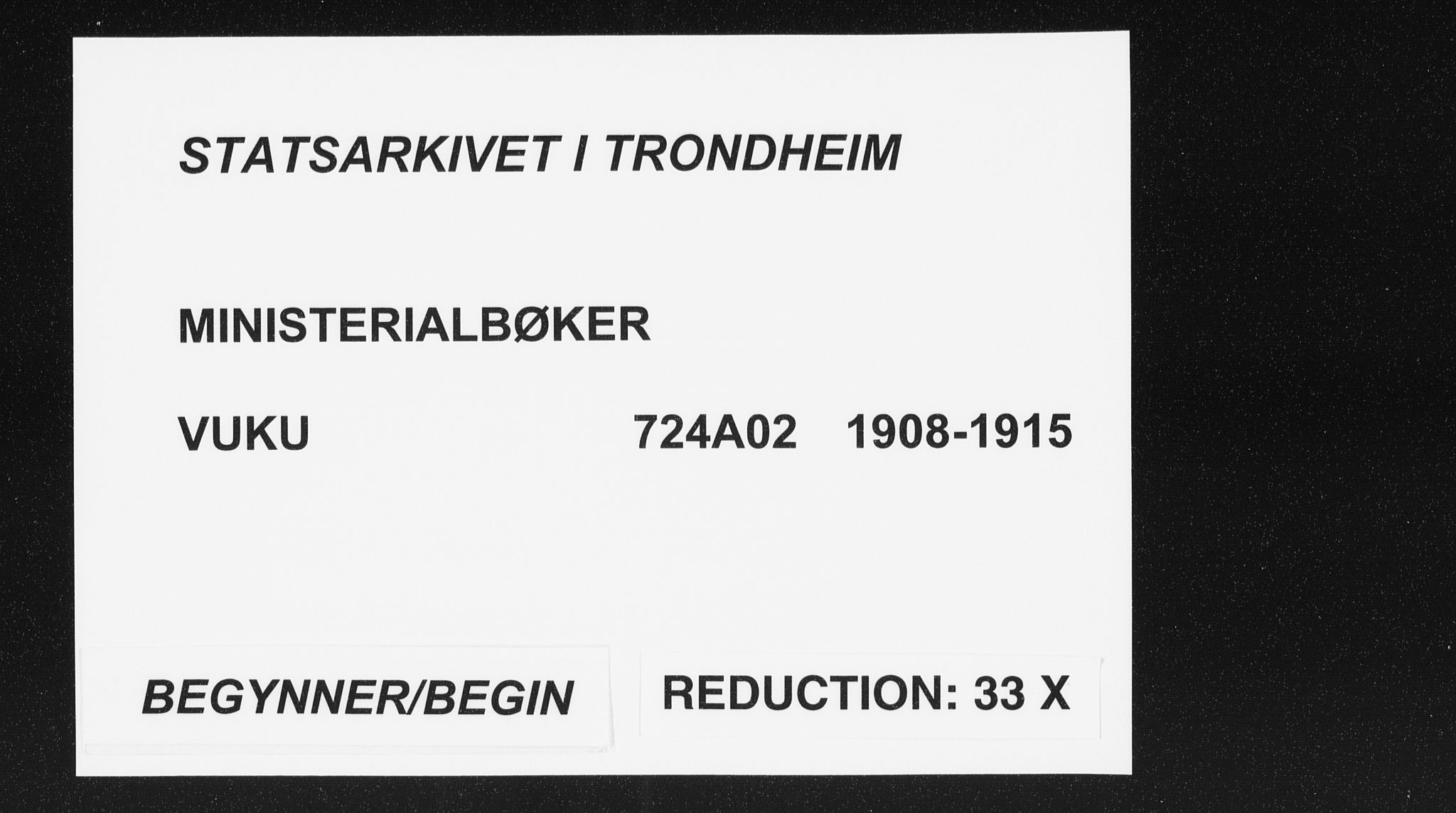 SAT, Ministerialprotokoller, klokkerbøker og fødselsregistre - Nord-Trøndelag, 724/L0264: Parish register (official) no. 724A02, 1908-1915
