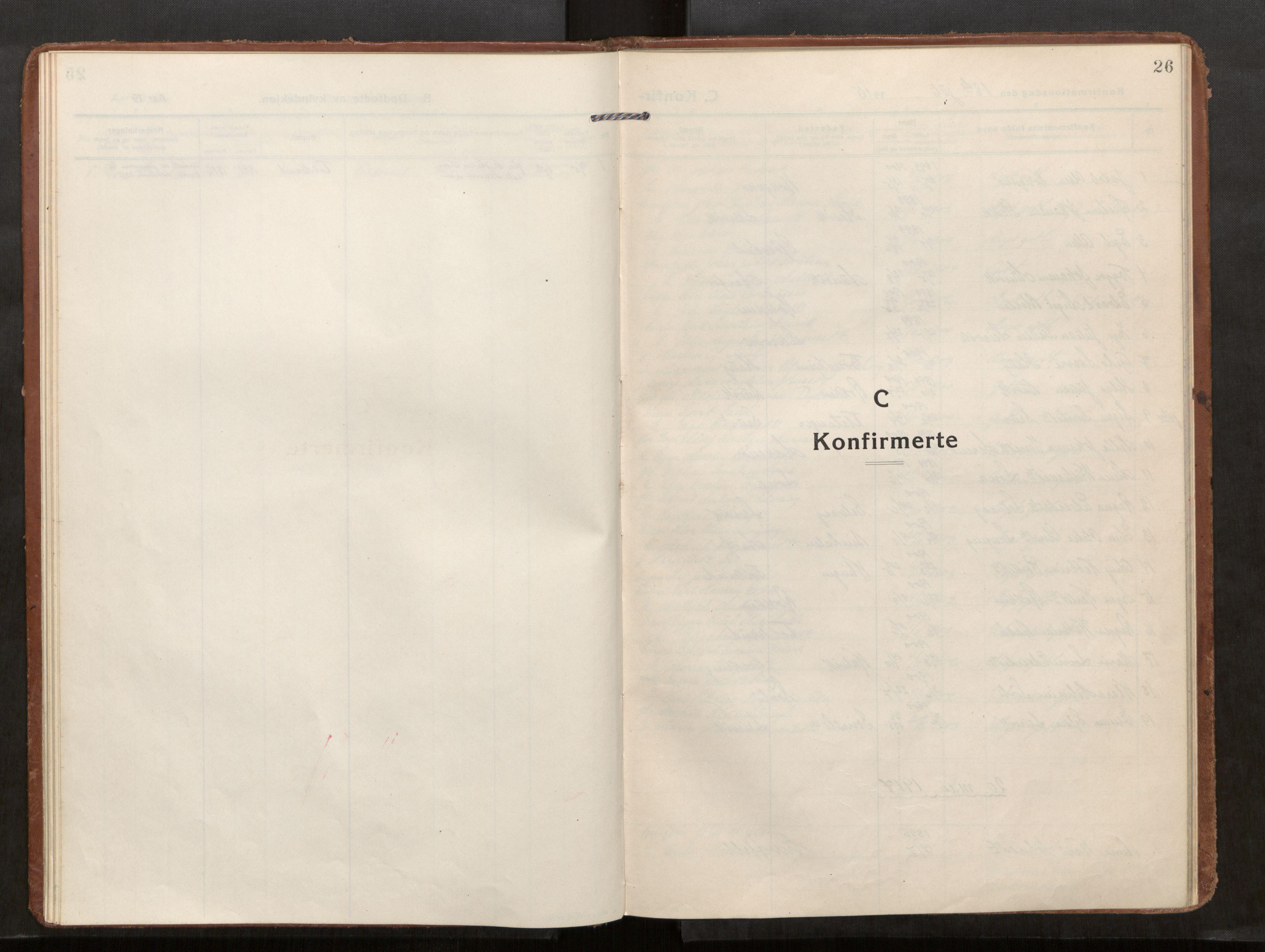 SAT, Kolvereid sokneprestkontor, H/Ha/Haa/L0002: Parish register (official) no. 2, 1914-1926, p. 26