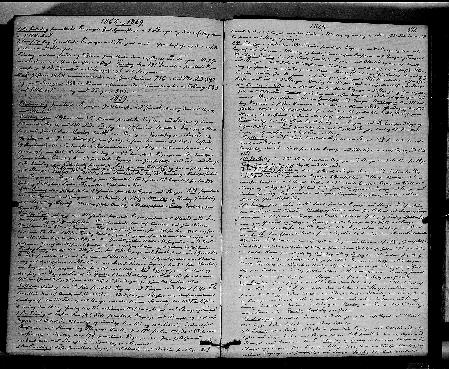 SAH, Stange prestekontor, K/L0013: Parish register (official) no. 13, 1862-1879, p. 511