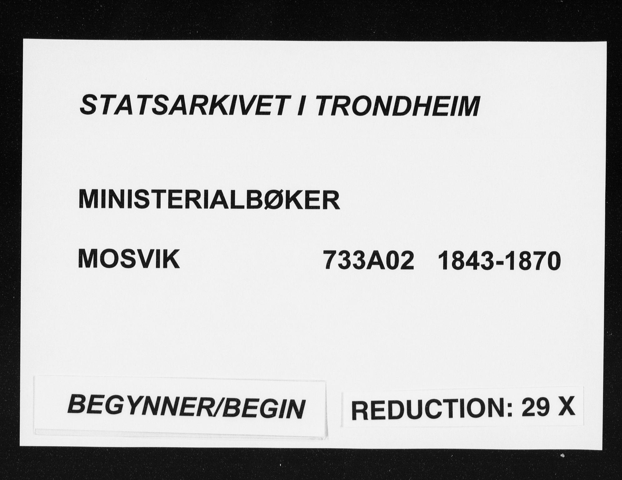 SAT, Ministerialprotokoller, klokkerbøker og fødselsregistre - Nord-Trøndelag, 733/L0323: Parish register (official) no. 733A02, 1843-1870