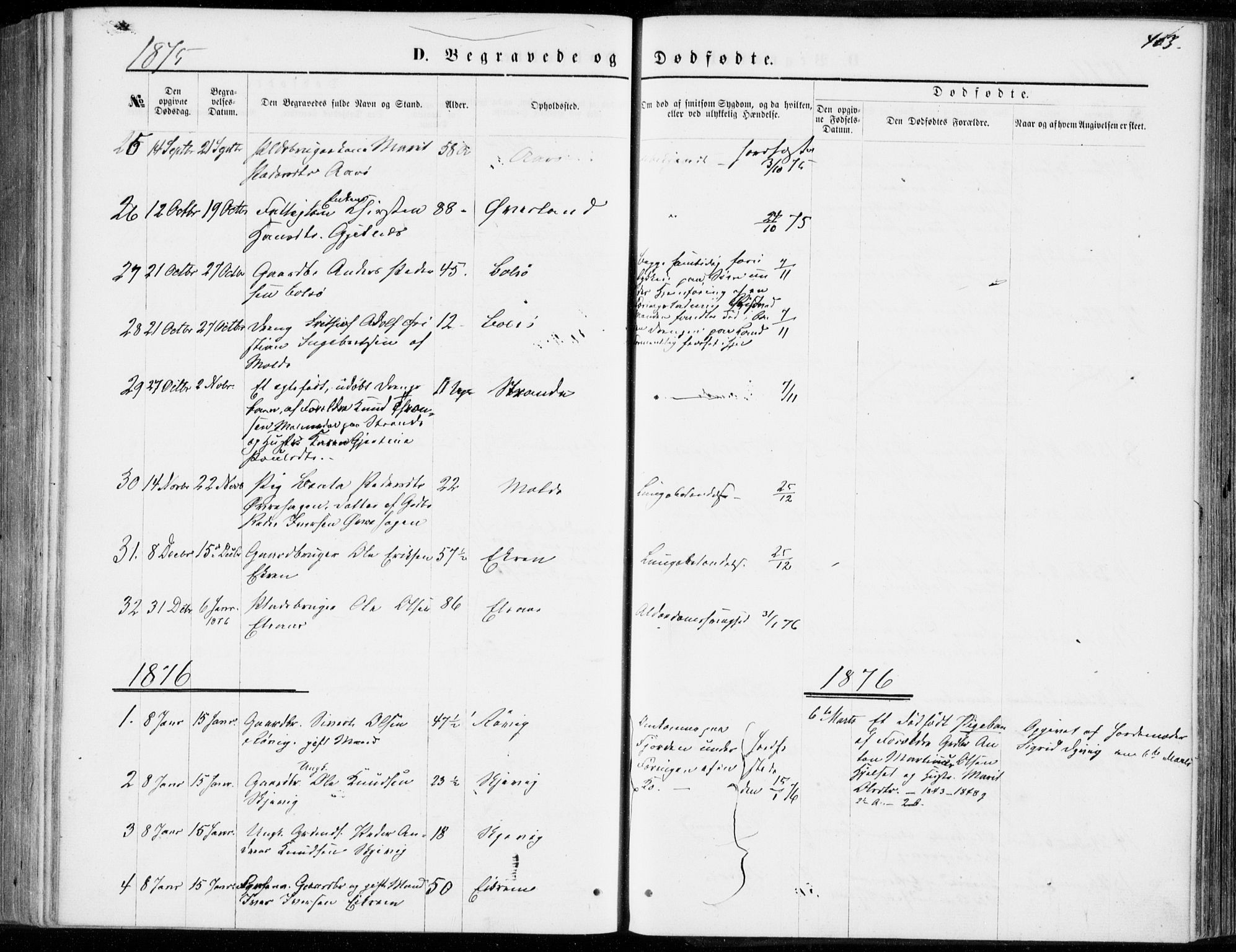 SAT, Ministerialprotokoller, klokkerbøker og fødselsregistre - Møre og Romsdal, 555/L0655: Parish register (official) no. 555A05, 1869-1886, p. 403