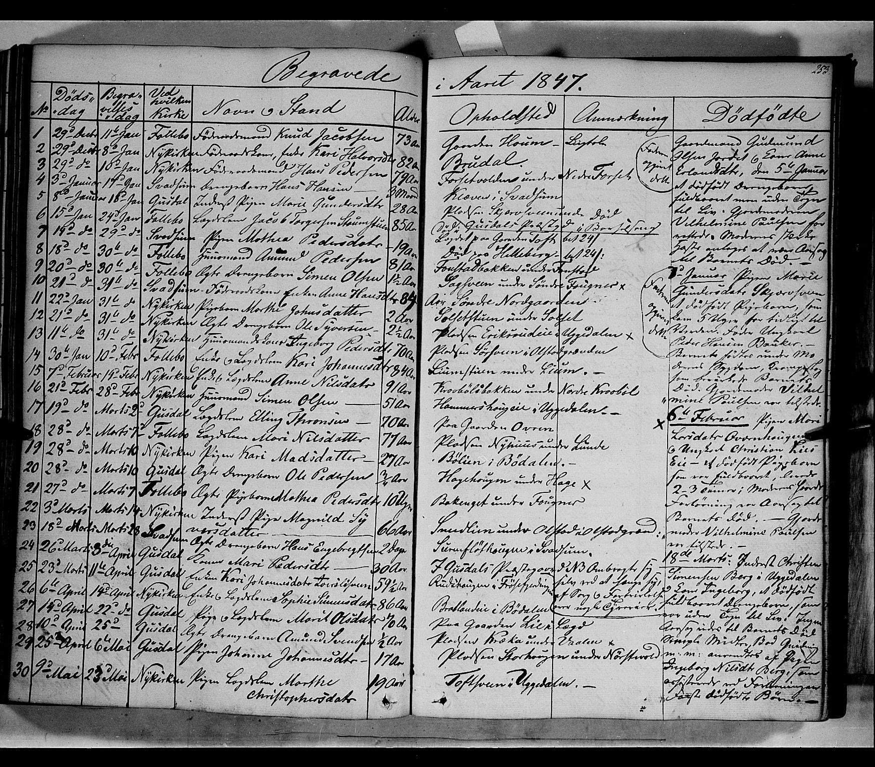 SAH, Gausdal prestekontor, Parish register (official) no. 7, 1840-1850, p. 253