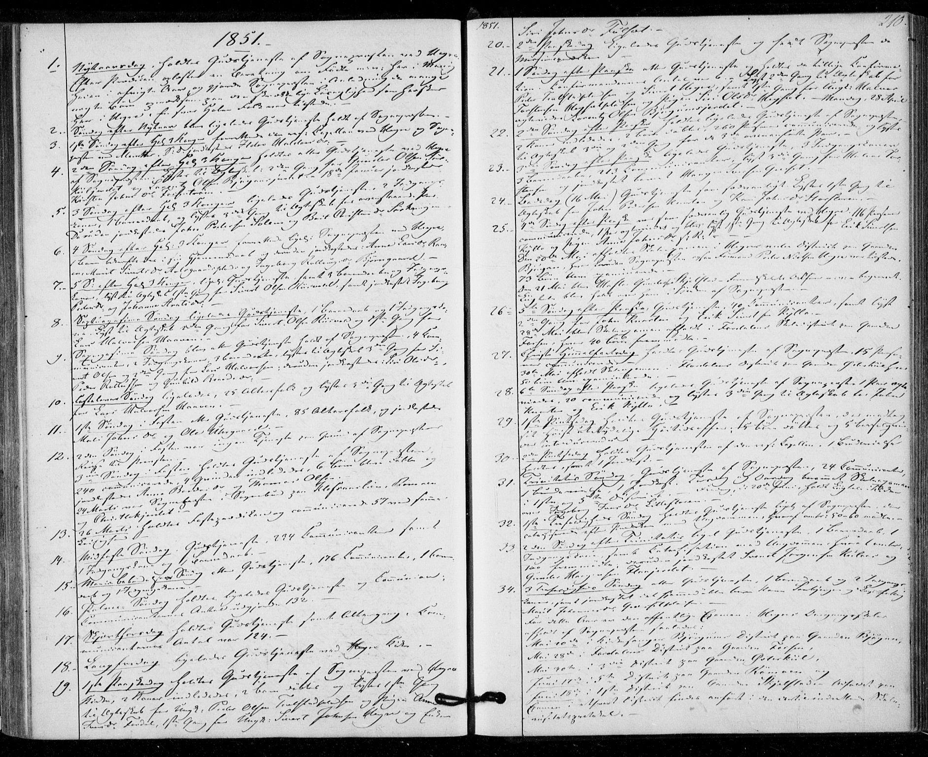 SAT, Ministerialprotokoller, klokkerbøker og fødselsregistre - Nord-Trøndelag, 703/L0028: Parish register (official) no. 703A01, 1850-1862, p. 210