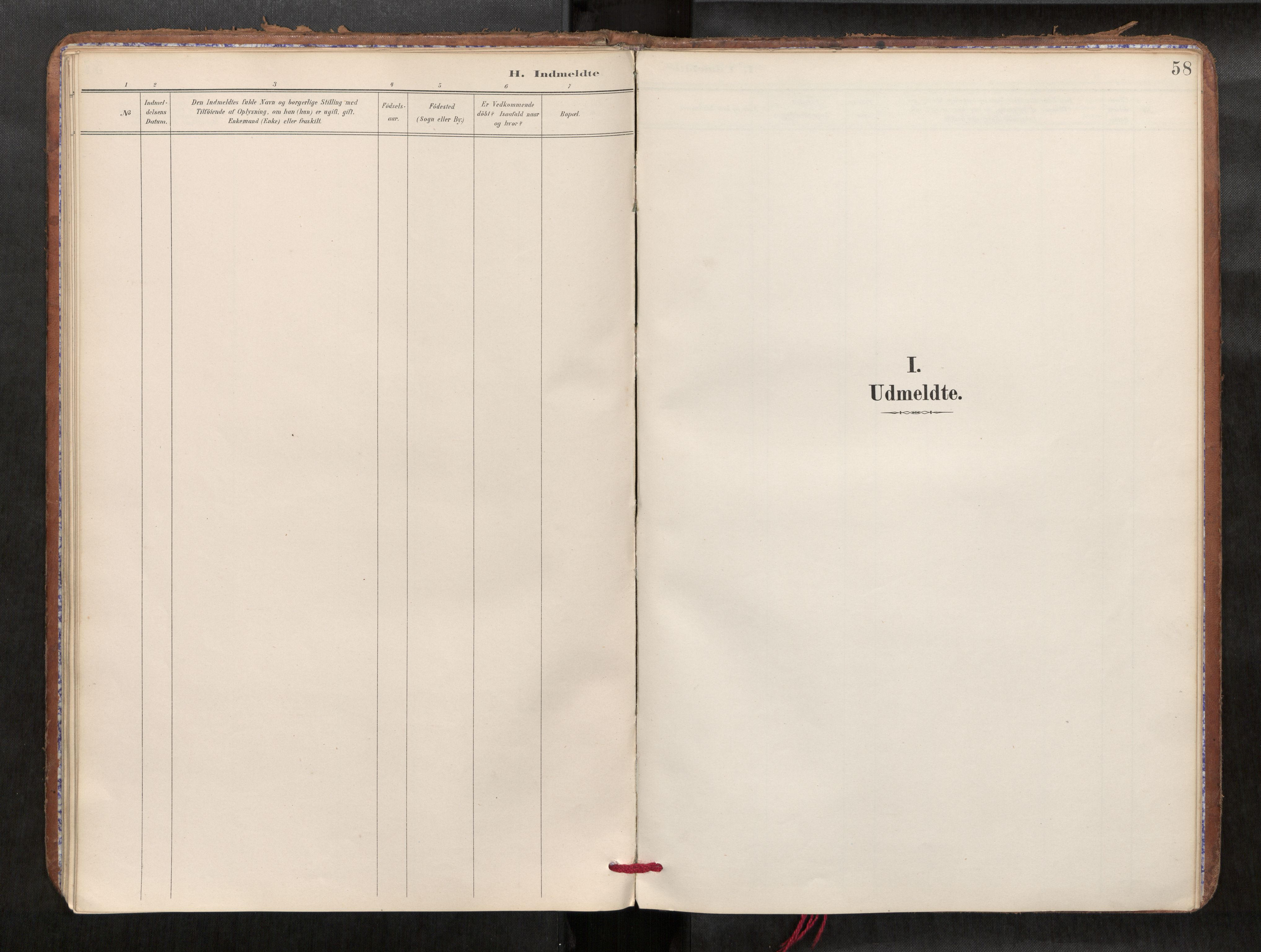 SAT, Verdal sokneprestkontor*, Parish register (official) no. 1, 1891-1907, p. 58