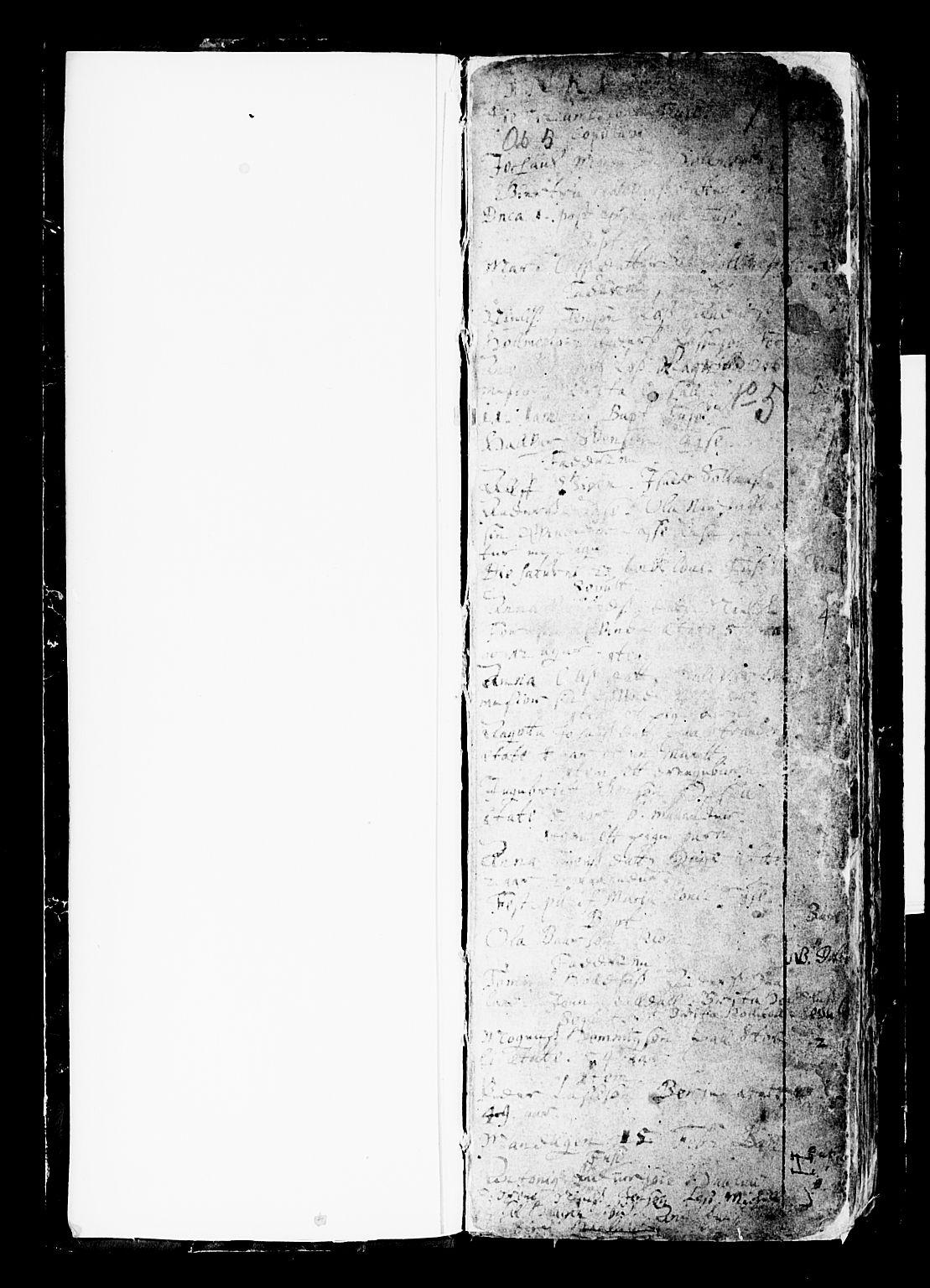 SAB, Os sokneprestembete*, Parish register (official) no. A 6, 1669-1719, p. 1