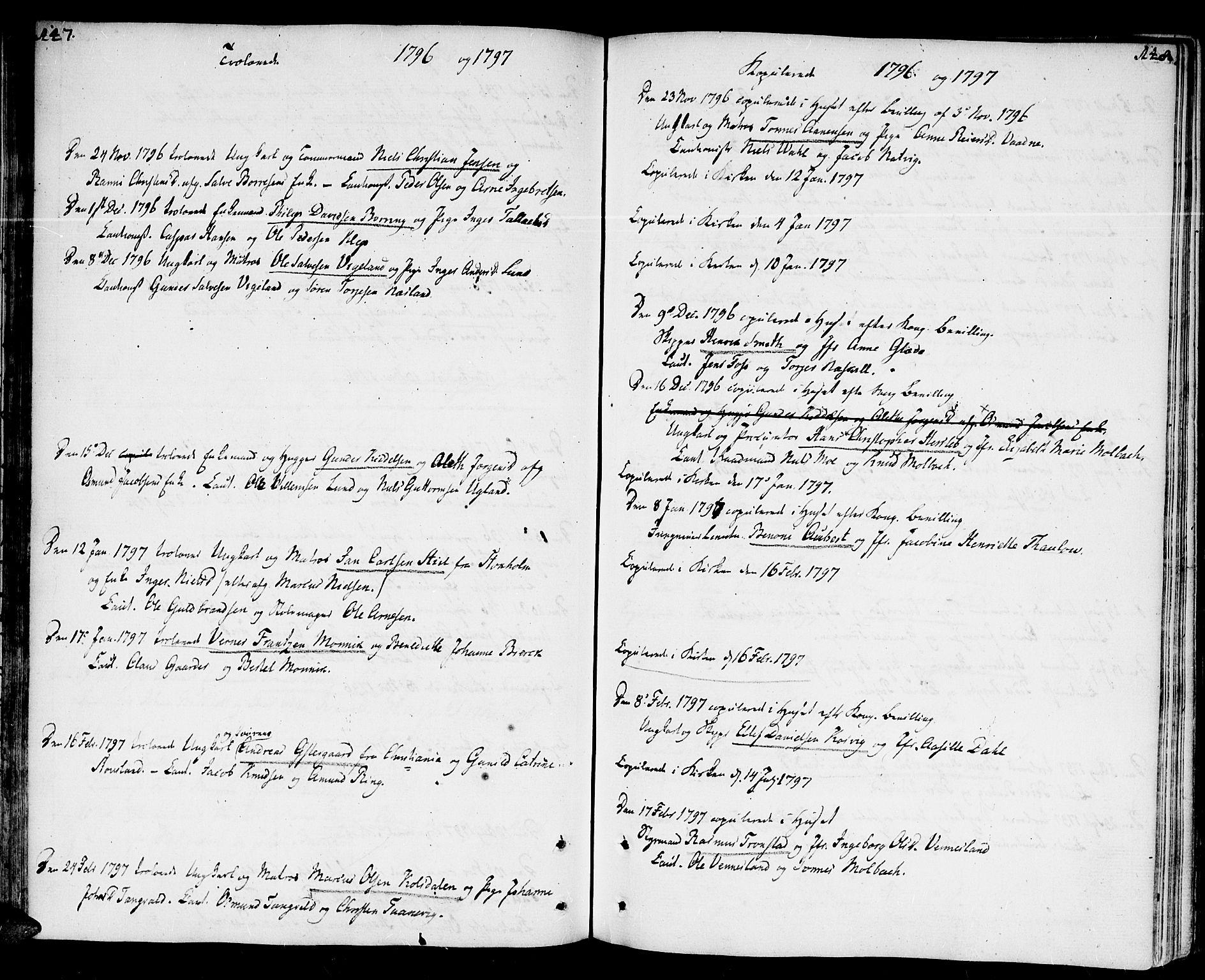 SAK, Kristiansand domprosti, F/Fa/L0005: Parish register (official) no. A 5, 1776-1818, p. 147-148