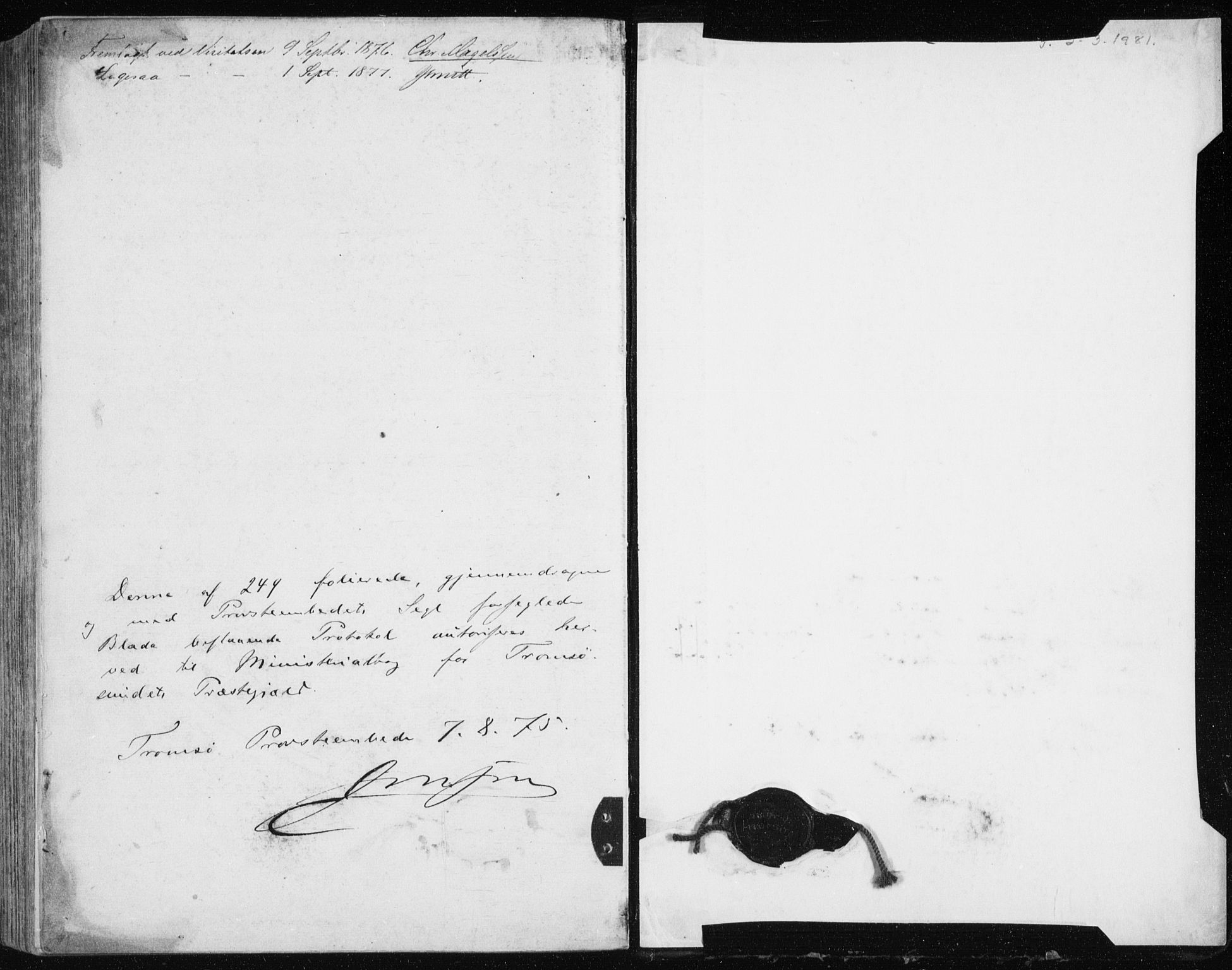 SATØ, Tromsøysund sokneprestkontor, G/Ga/L0003kirke: Parish register (official) no. 3, 1875-1880