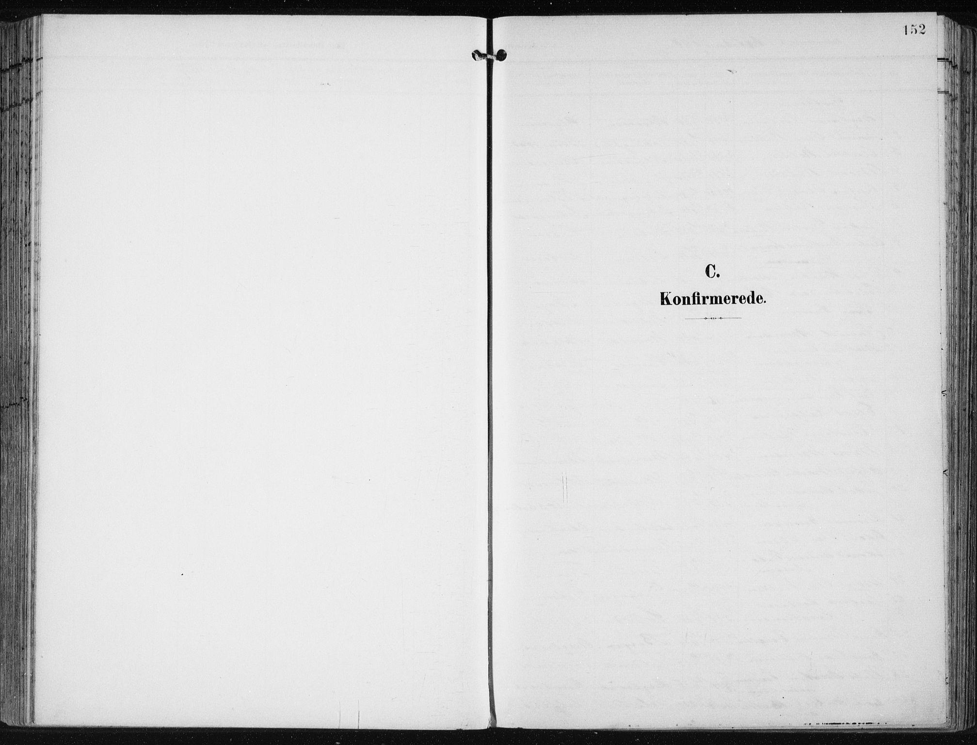SAB, Fjell sokneprestembete, H/Haa: Parish register (official) no. A  9, 1899-1910, p. 152