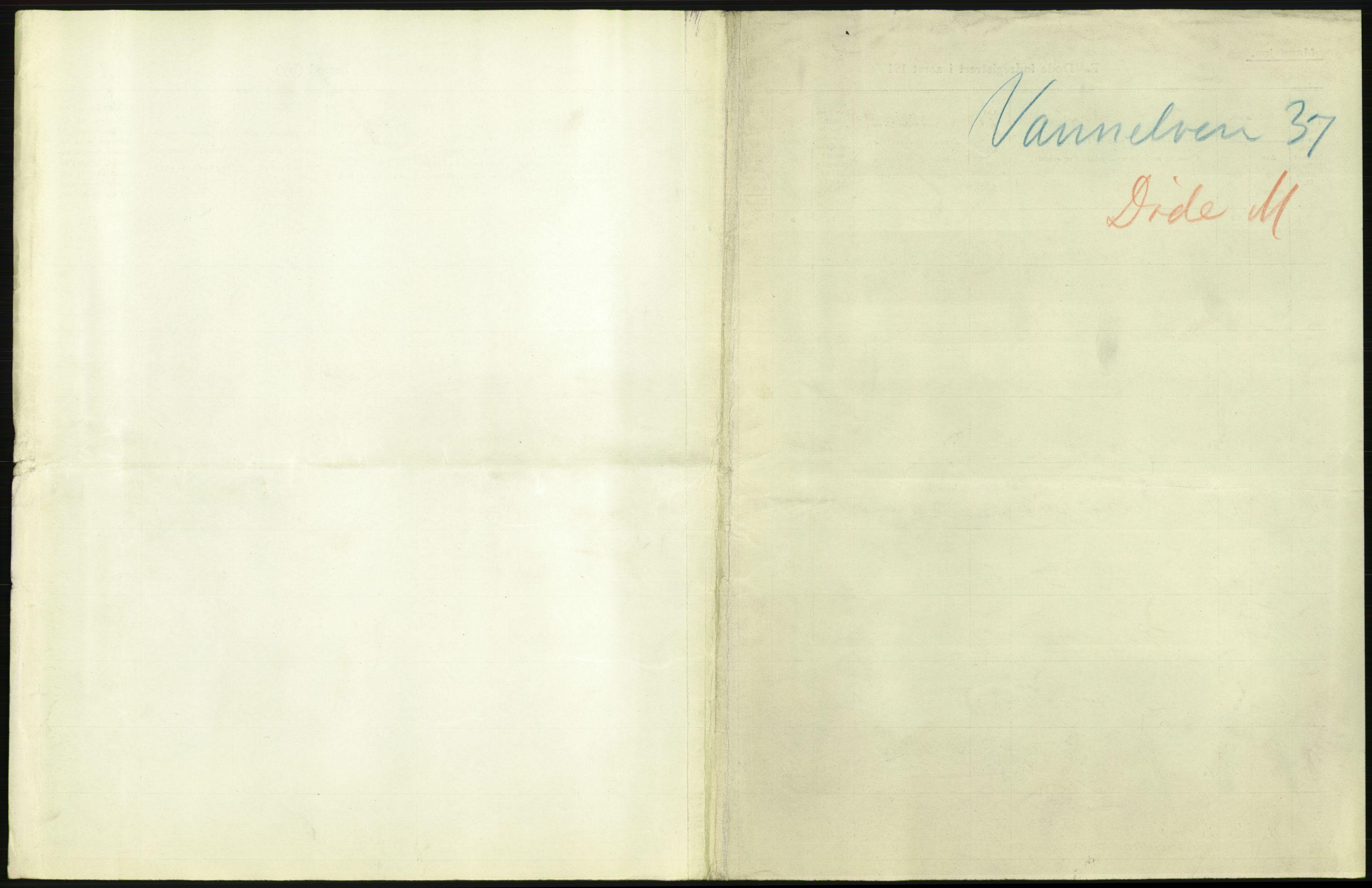 RA, Statistisk sentralbyrå, Sosiodemografiske emner, Befolkning, D/Df/Dfb/Dfbf/L0044: Romsdals amt: Døde, dødfødte. Bygder og byer., 1916