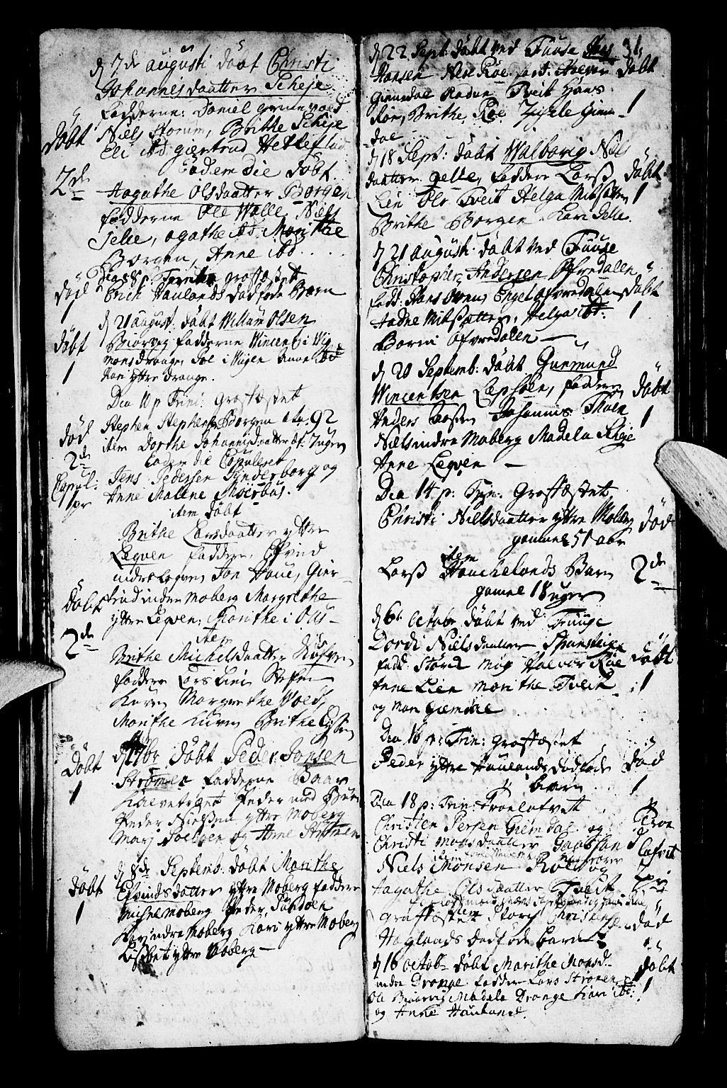 SAB, Os sokneprestembete*, Parish register (official) no. A 2, 1723-1758, p. 31