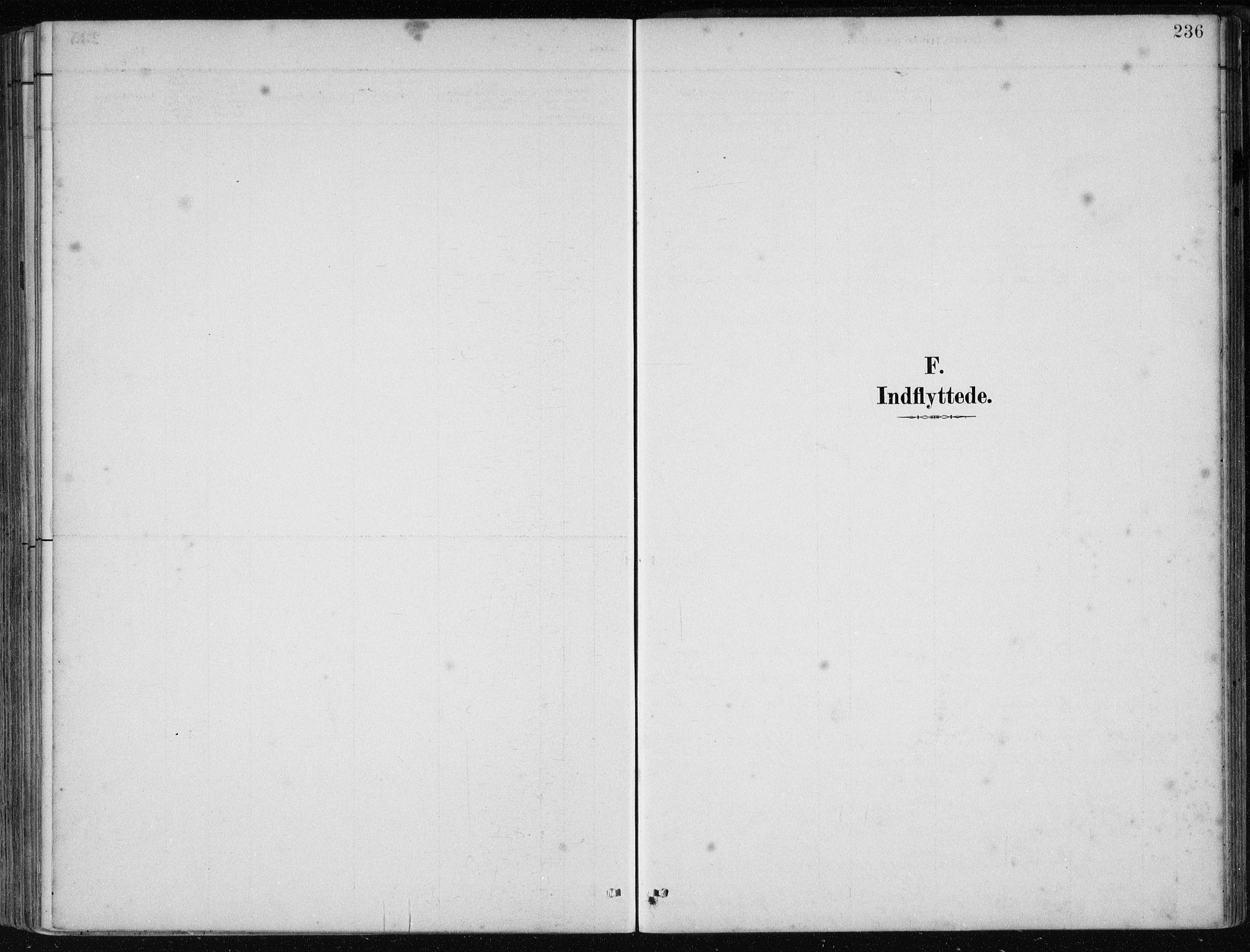 SAB, Os sokneprestembete*, Parish register (official) no. B 1, 1885-1902, p. 236