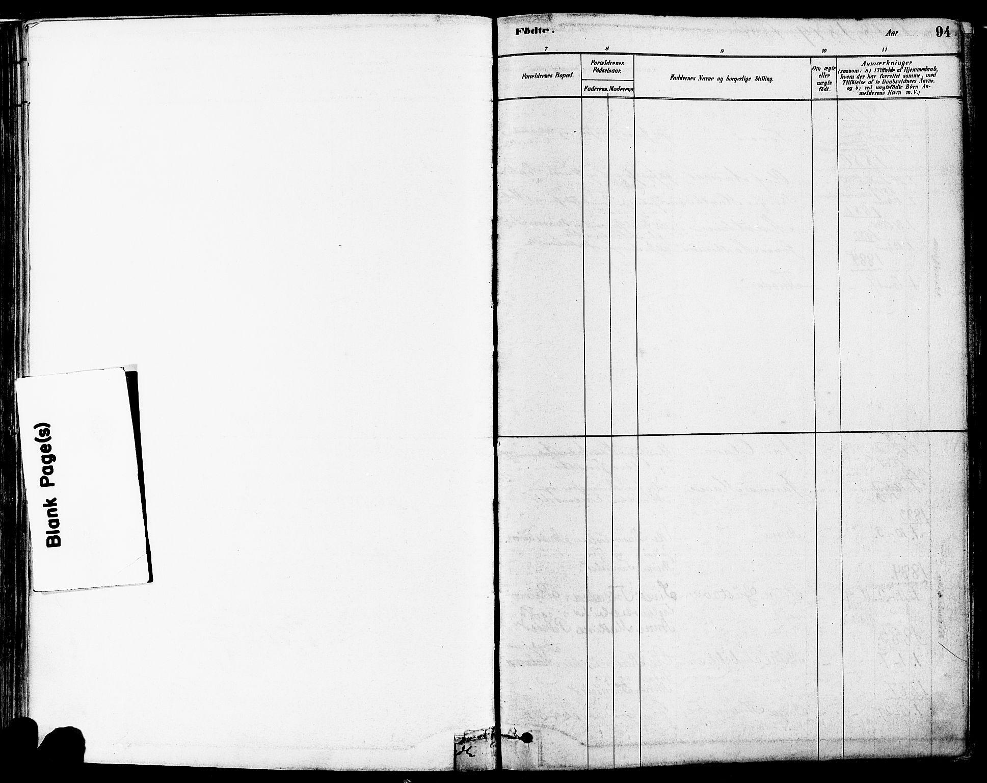 SAST, Høyland sokneprestkontor, 30BA/L0011: Parish register (official) no. A 10, 1878-1888, p. 94