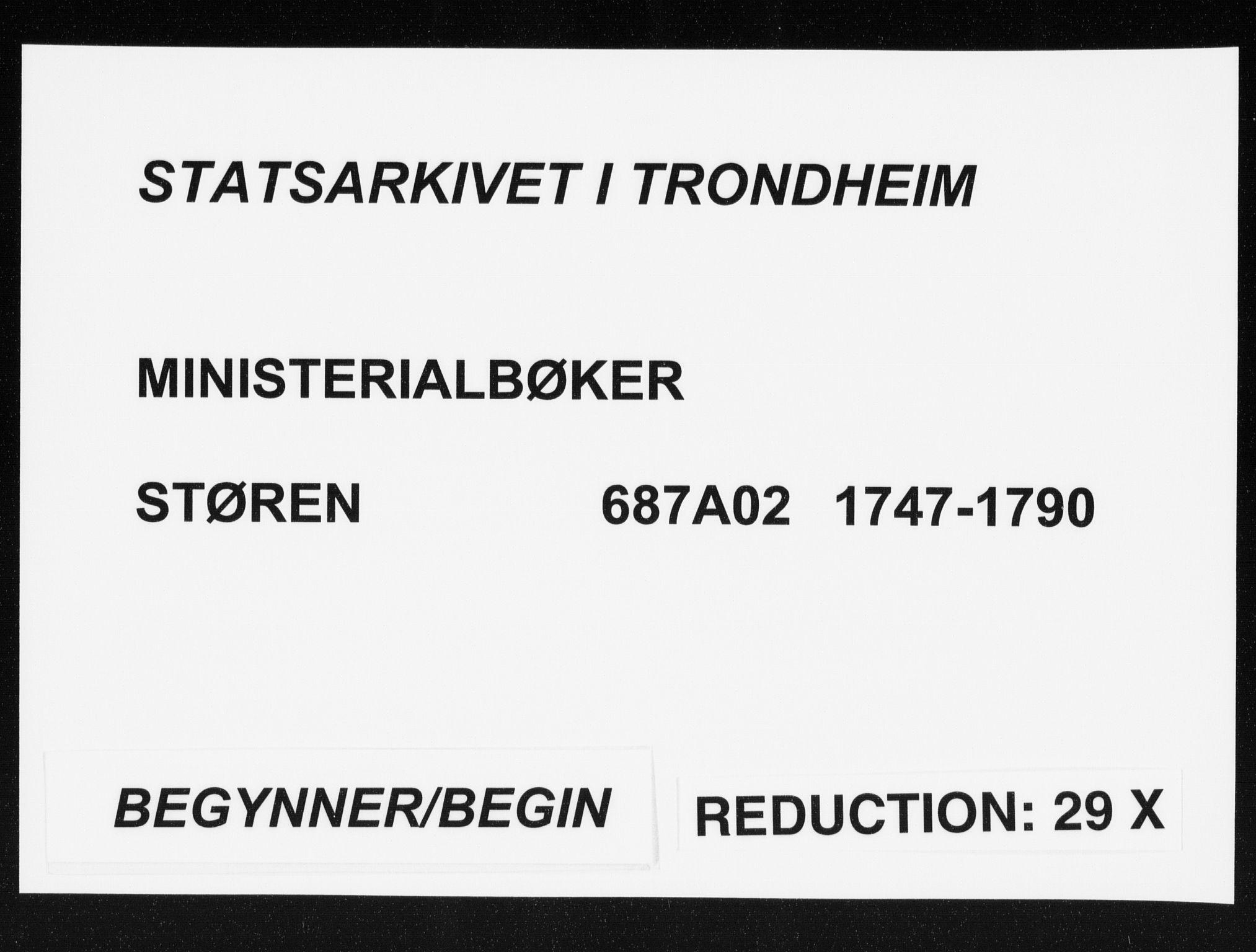 SAT, Ministerialprotokoller, klokkerbøker og fødselsregistre - Sør-Trøndelag, 687/L0991: Parish register (official) no. 687A02, 1747-1790
