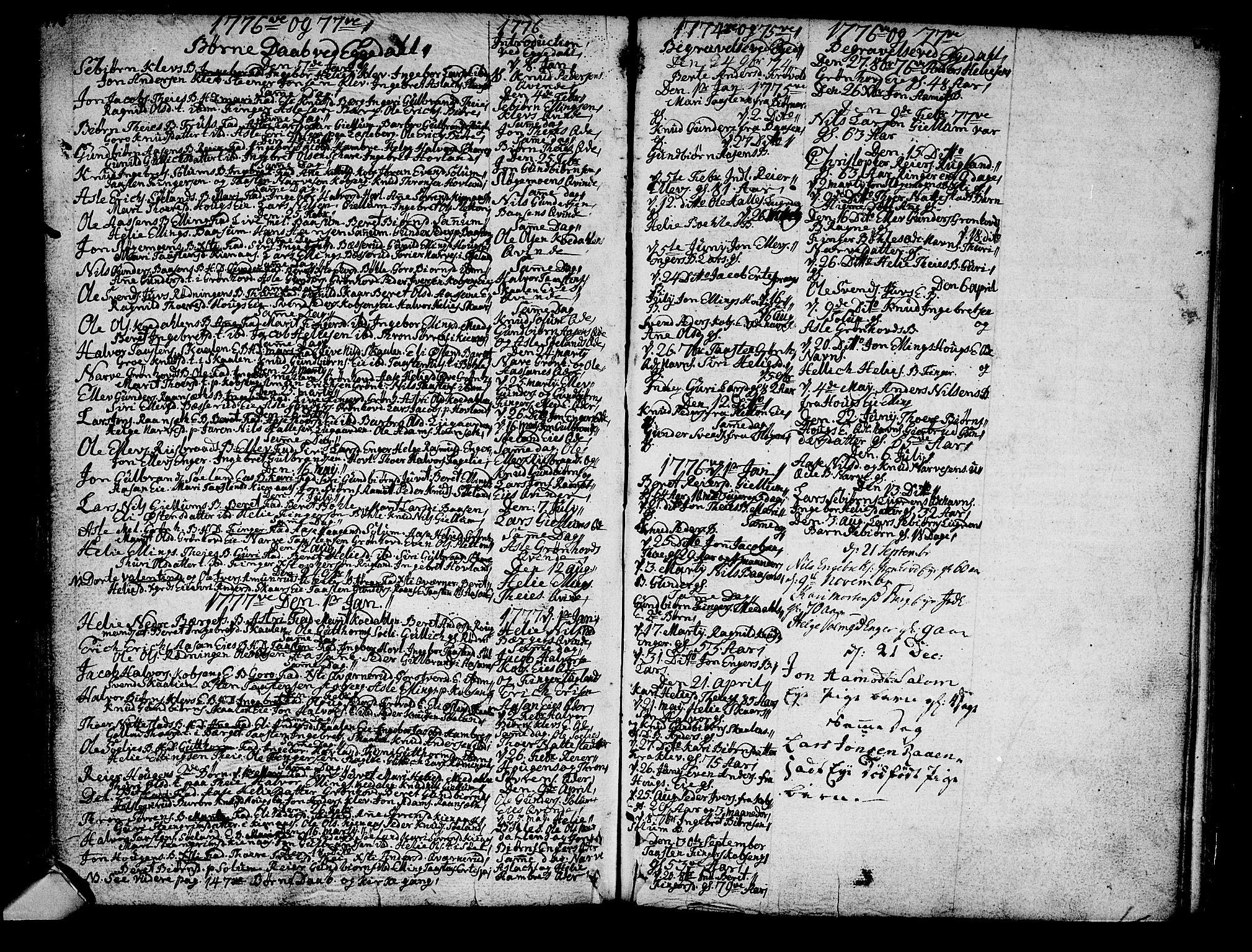 SAKO, Sigdal kirkebøker, F/Fa/L0001: Parish register (official) no. I 1, 1722-1777, p. 141-142