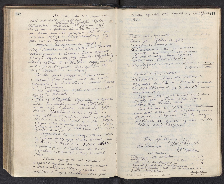SAB, Lensmannen i Aurland, 0012/L0003: Branntakstprotokoll, 1917-1944, p. 247