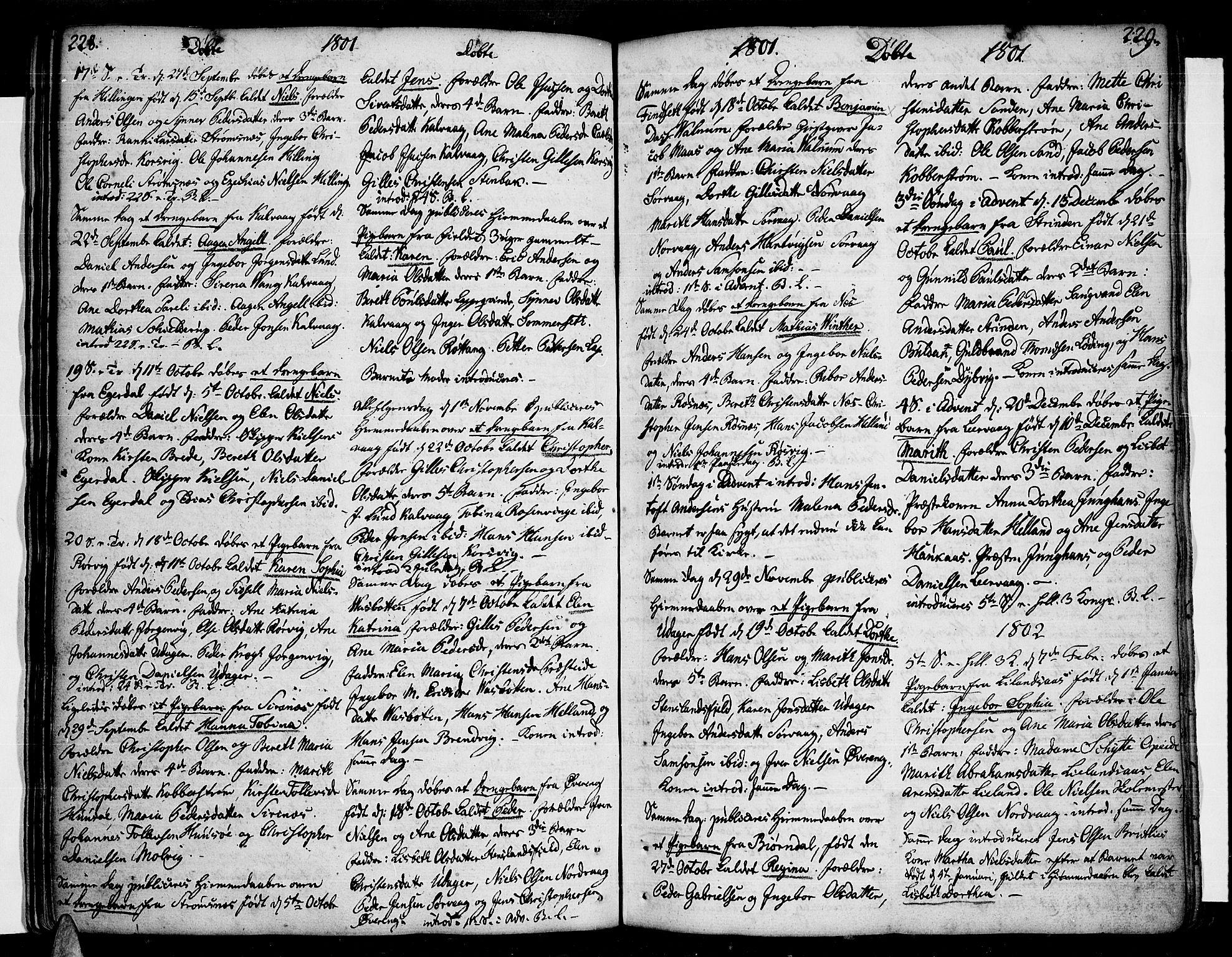 SAT, Ministerialprotokoller, klokkerbøker og fødselsregistre - Nordland, 859/L0841: Parish register (official) no. 859A01, 1766-1821, p. 228-229