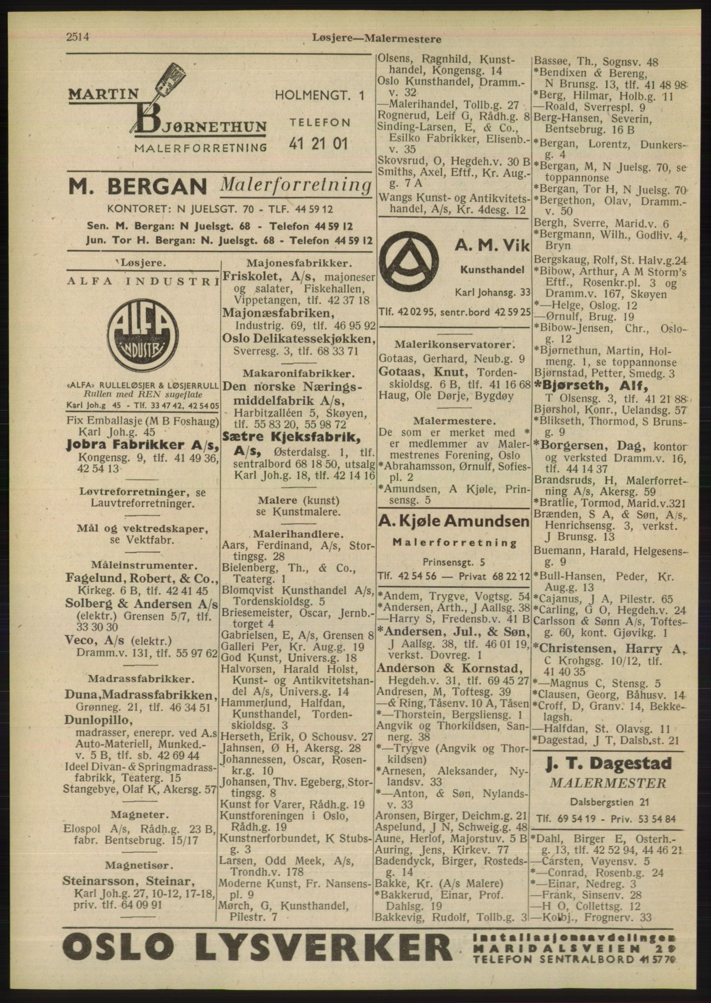 PUBL, Kristiania/Oslo adressebok, 1948, p. 2514