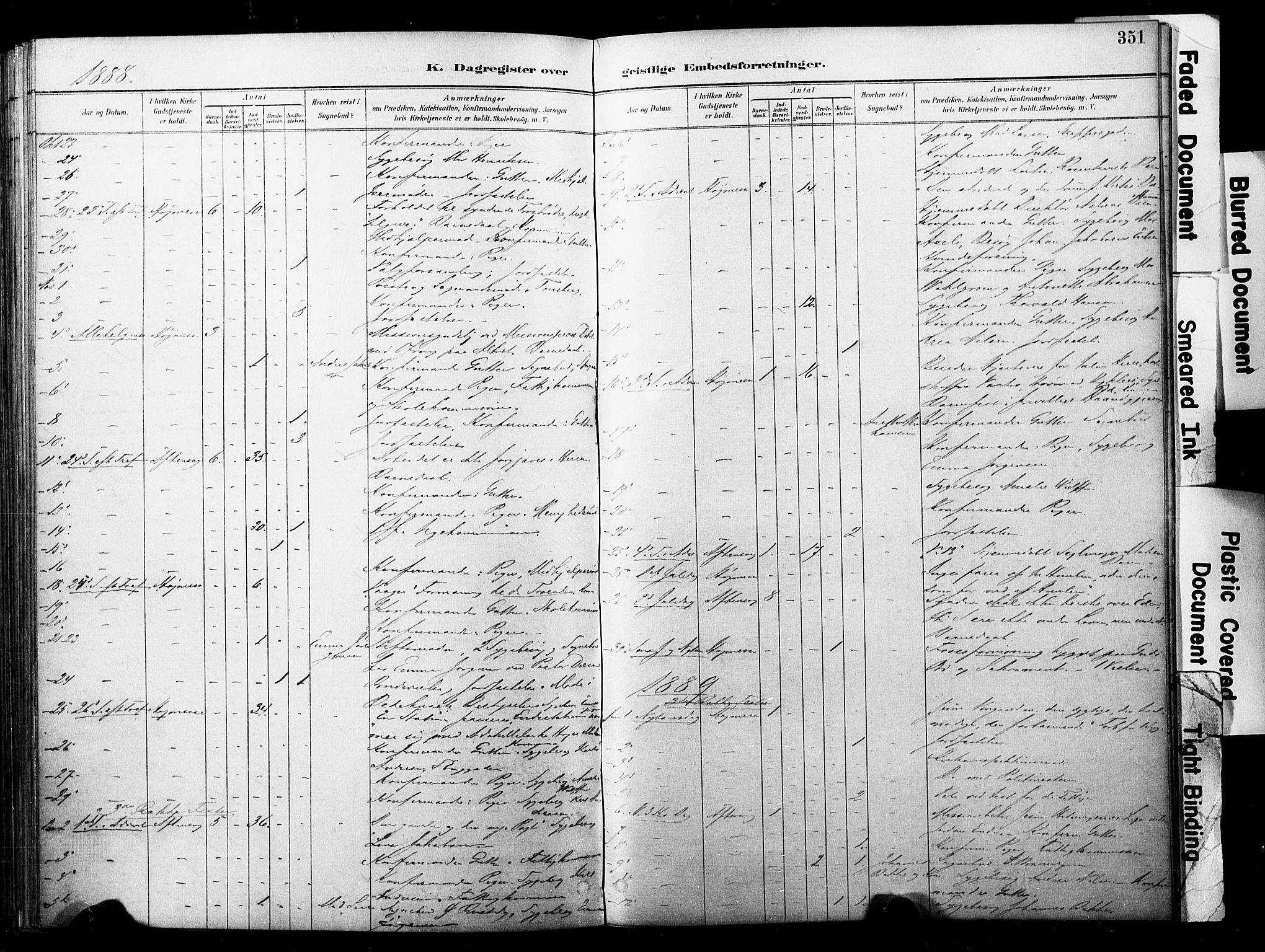 SAKO, Horten kirkebøker, F/Fa/L0004: Parish register (official) no. 4, 1888-1895, p. 351