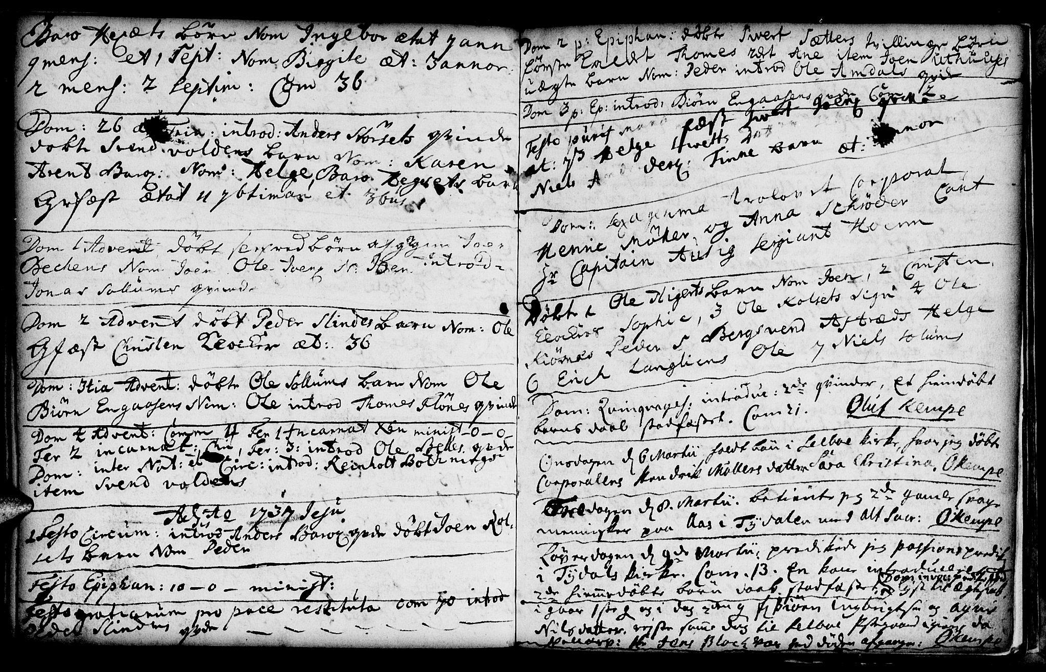 SAT, Ministerialprotokoller, klokkerbøker og fødselsregistre - Sør-Trøndelag, 695/L1137: Parish register (official) no. 695A01, 1699-1737