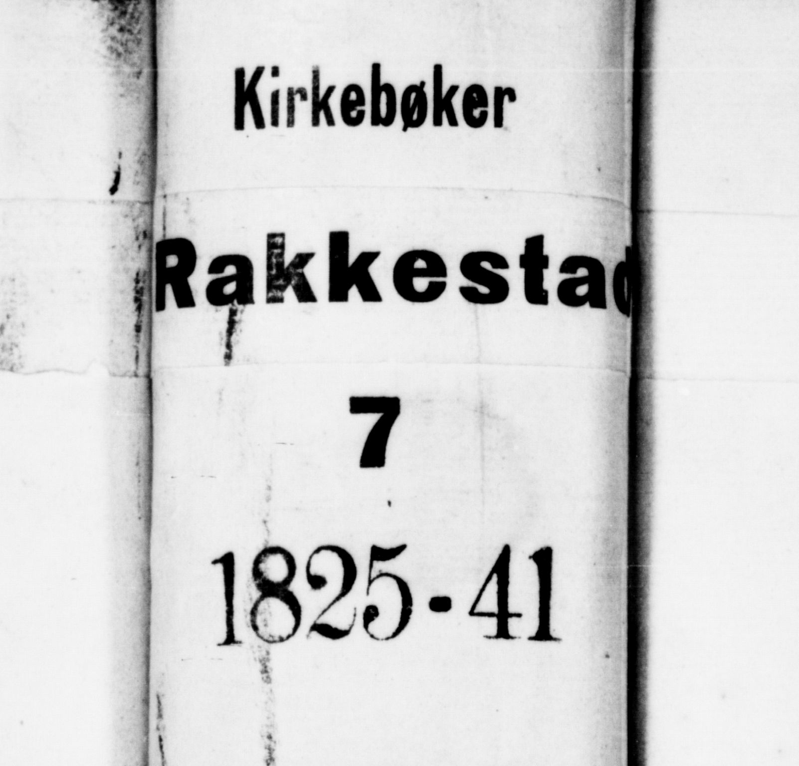 SAO, Rakkestad prestekontor Kirkebøker, F/Fa/L0007: Parish register (official) no. I 7, 1825-1841