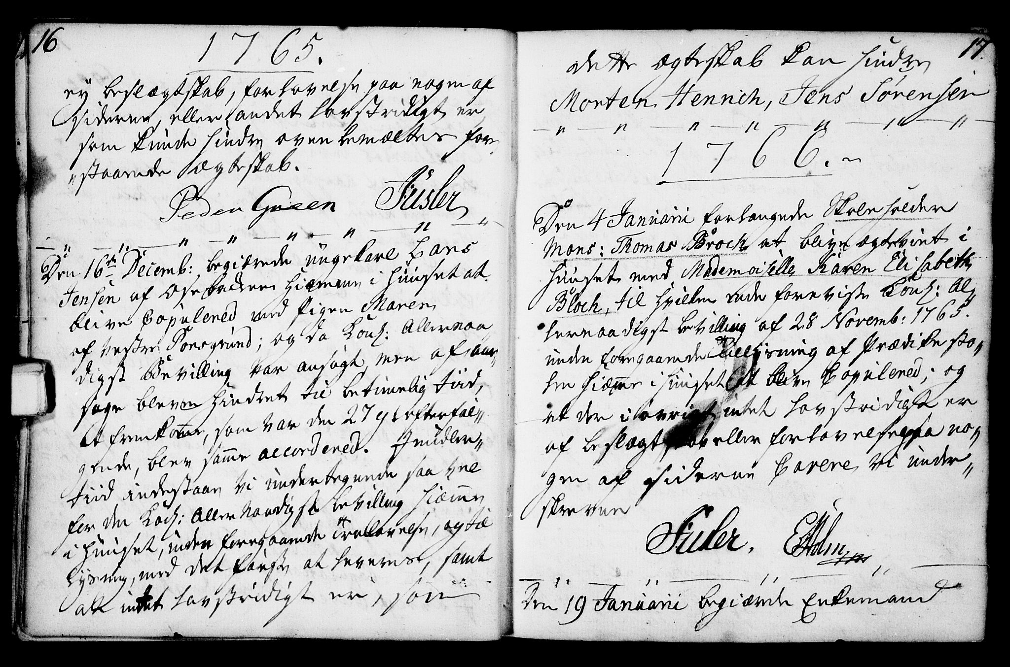 SAKO, Porsgrunn kirkebøker , F/Fa/L0003: Parish register (official) no. 3, 1764-1814, p. 16-17