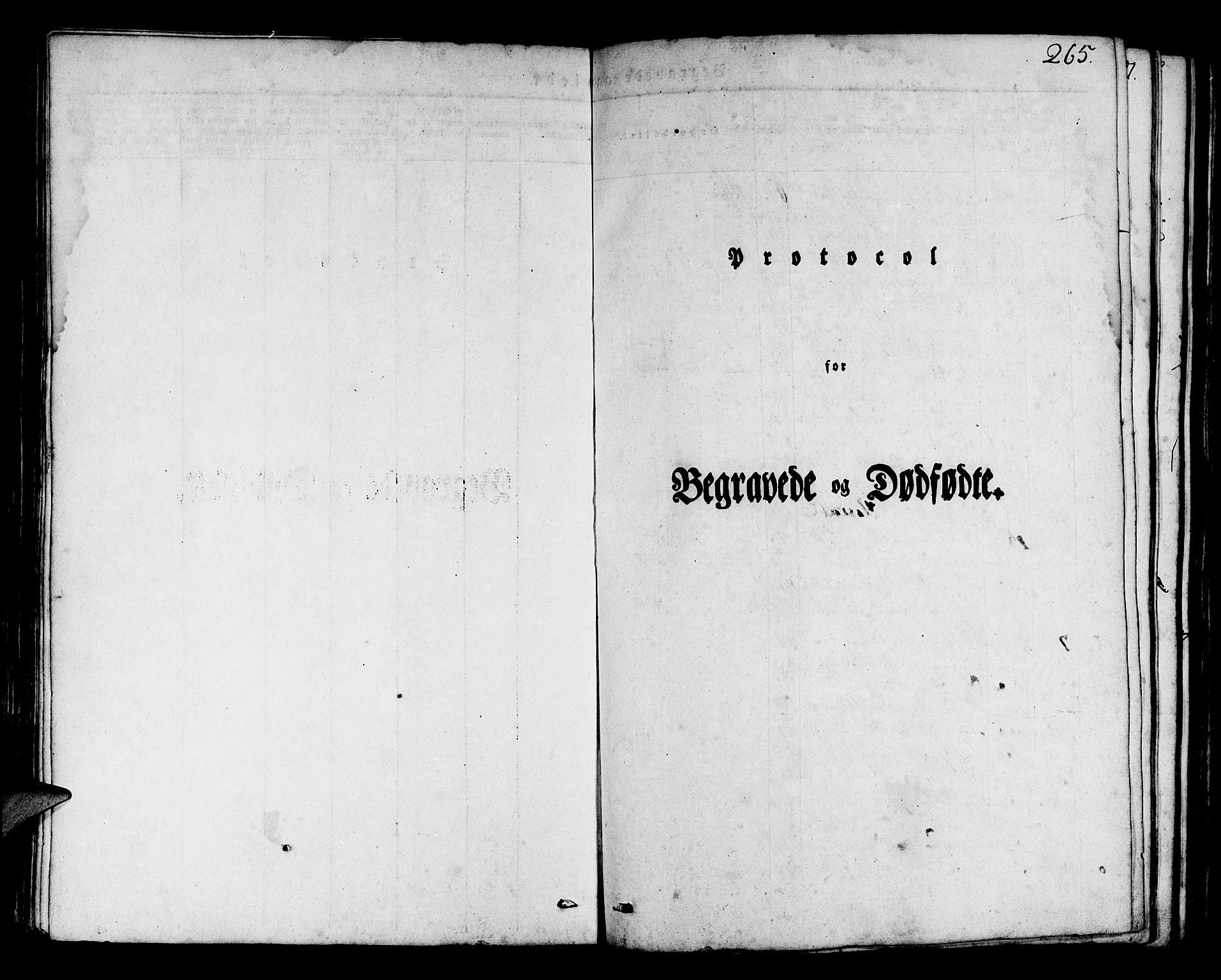SAB, Os sokneprestembete*, Parish register (official) no. A 14, 1826-1839, p. 265