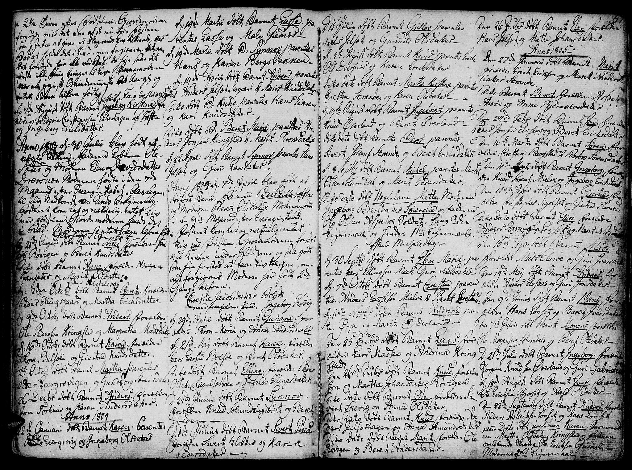 SAT, Ministerialprotokoller, klokkerbøker og fødselsregistre - Møre og Romsdal, 555/L0649: Parish register (official) no. 555A02 /1, 1795-1821, p. 57