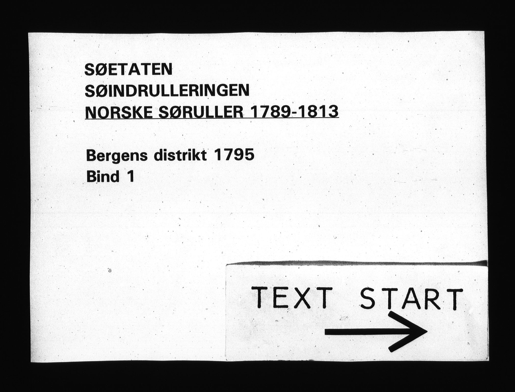 RA, Sjøetaten, F/L0221: Bergen distrikt, bind 1, 1795