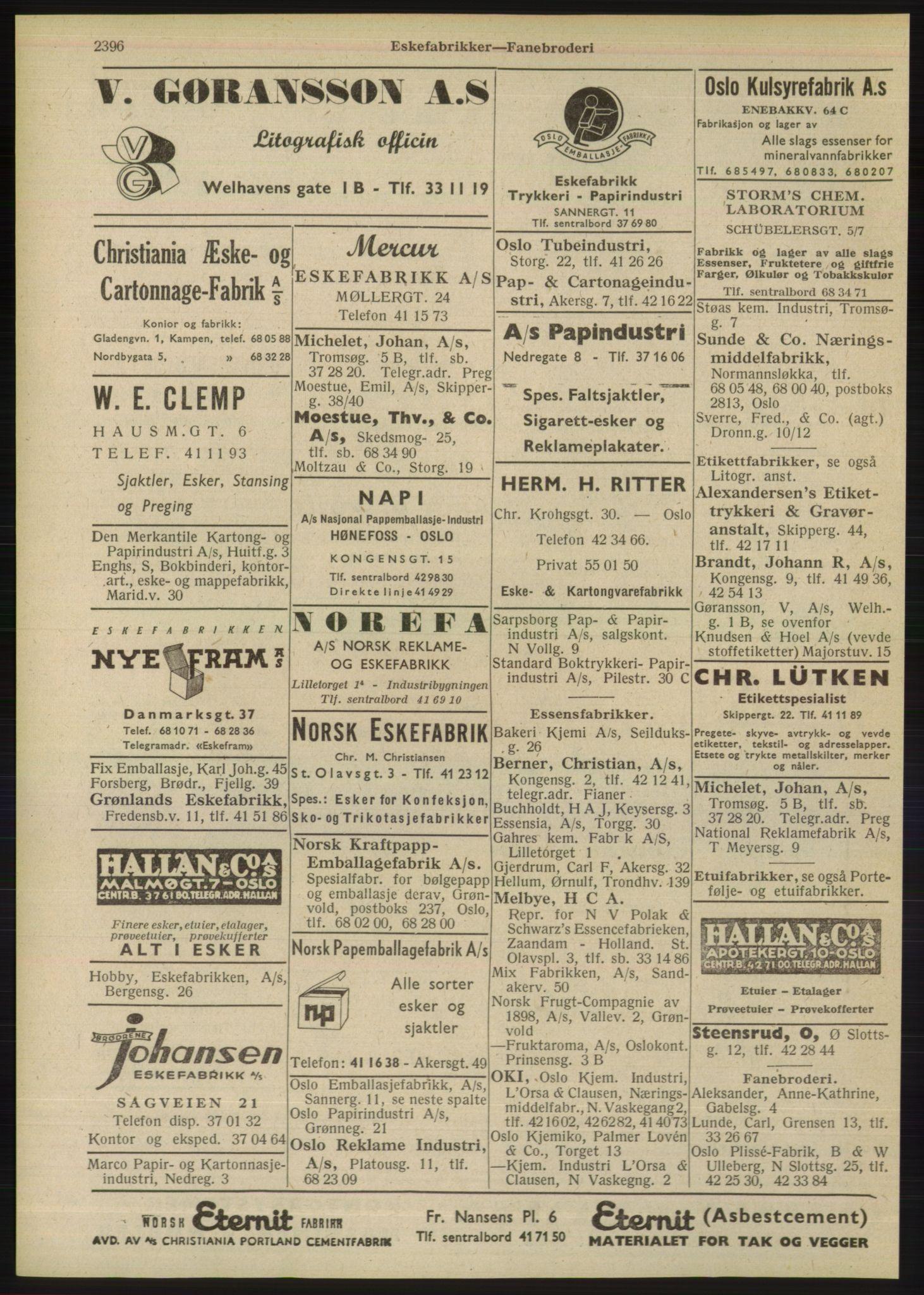 PUBL, Kristiania/Oslo adressebok, 1948, p. 2396
