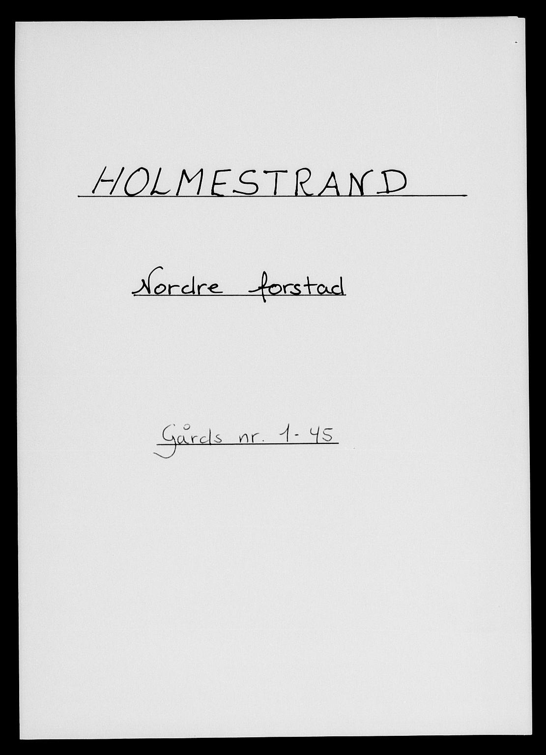 SAKO, 1885 census for 0702 Holmestrand, 1885, p. 1