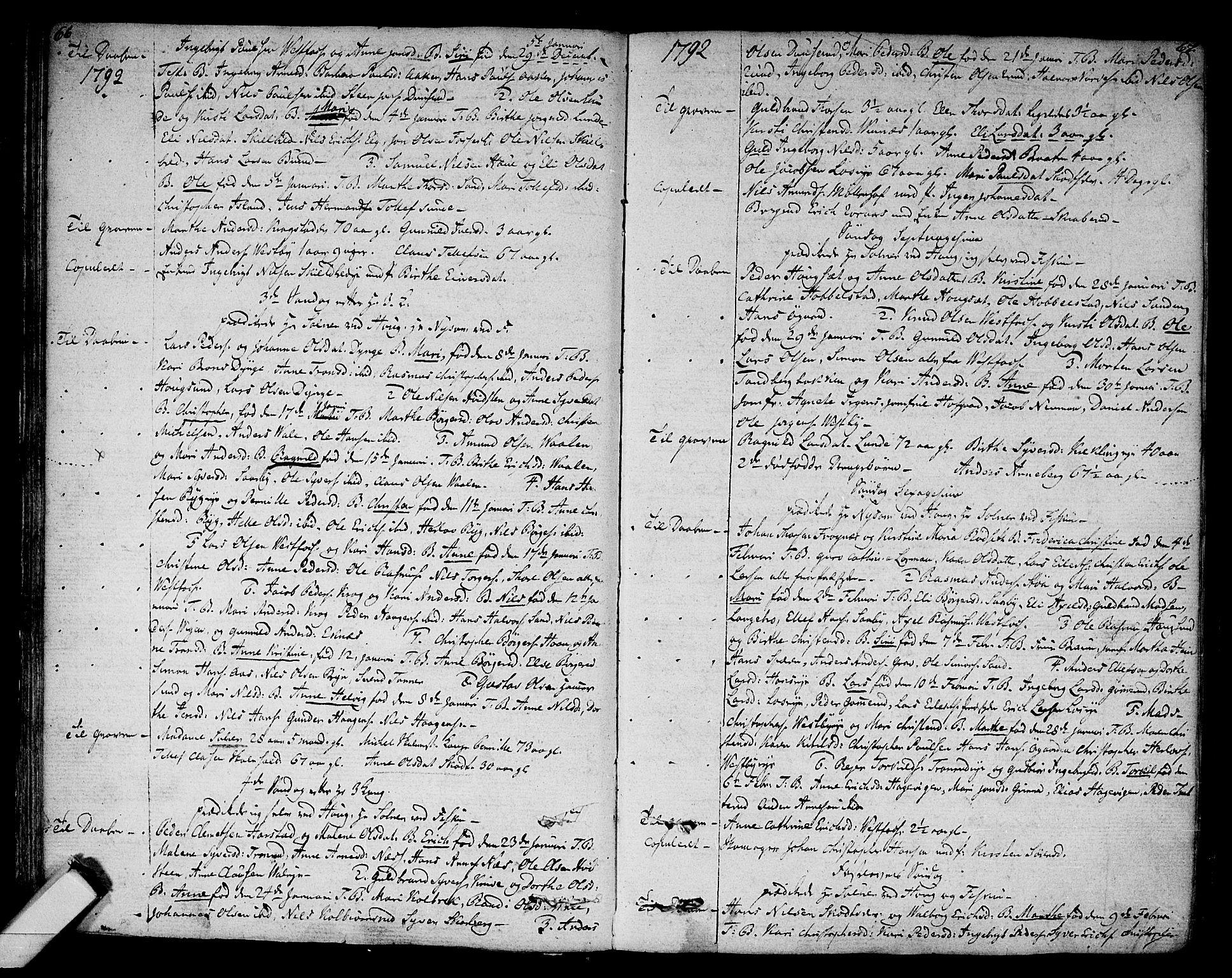 SAKO, Eiker kirkebøker, F/Fa/L0009: Parish register (official) no. I 9, 1789-1806, p. 66-67