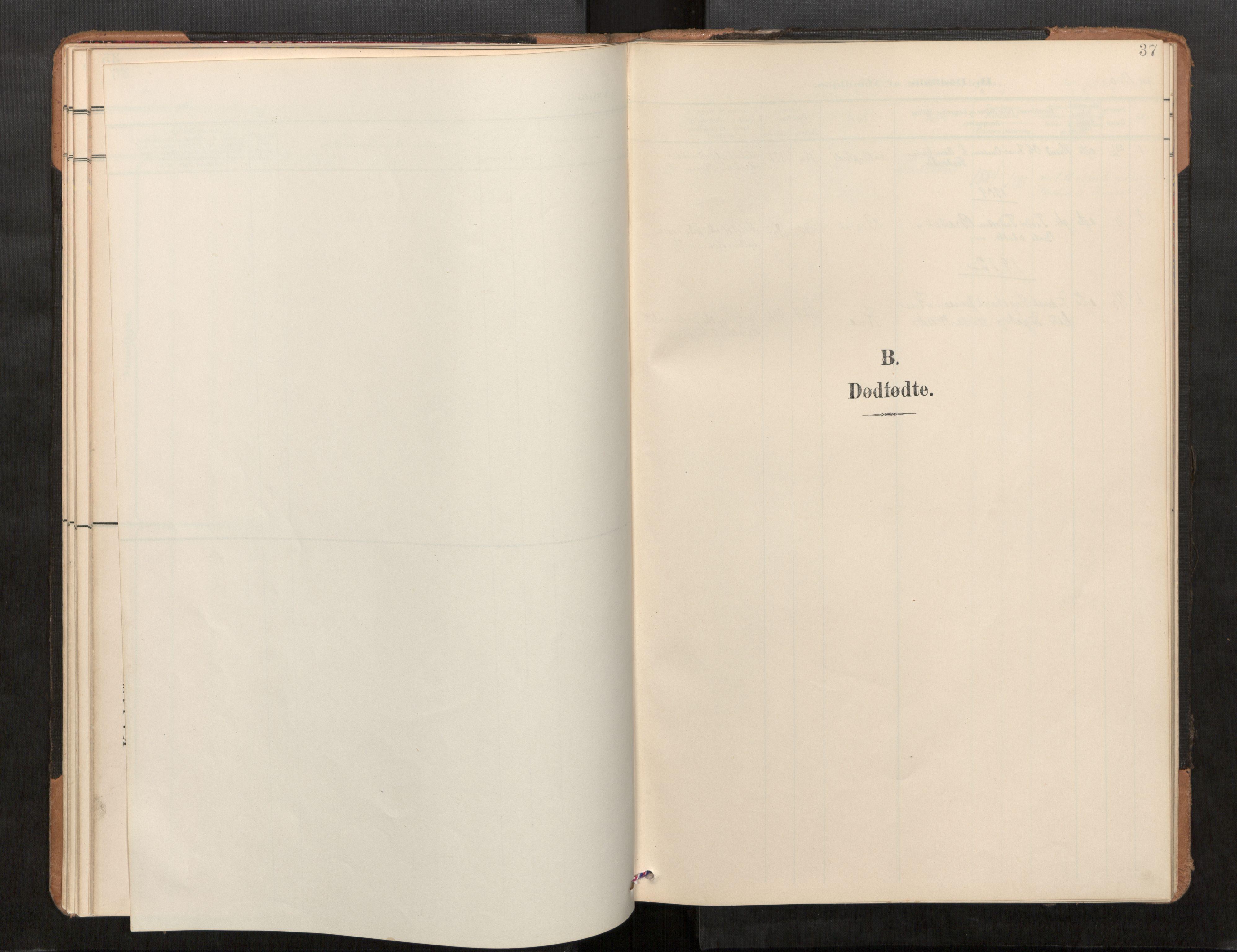 SAT, Stod sokneprestkontor, I/I1/I1a/L0001: Parish register (official) no. 1, 1900-1912, p. 37