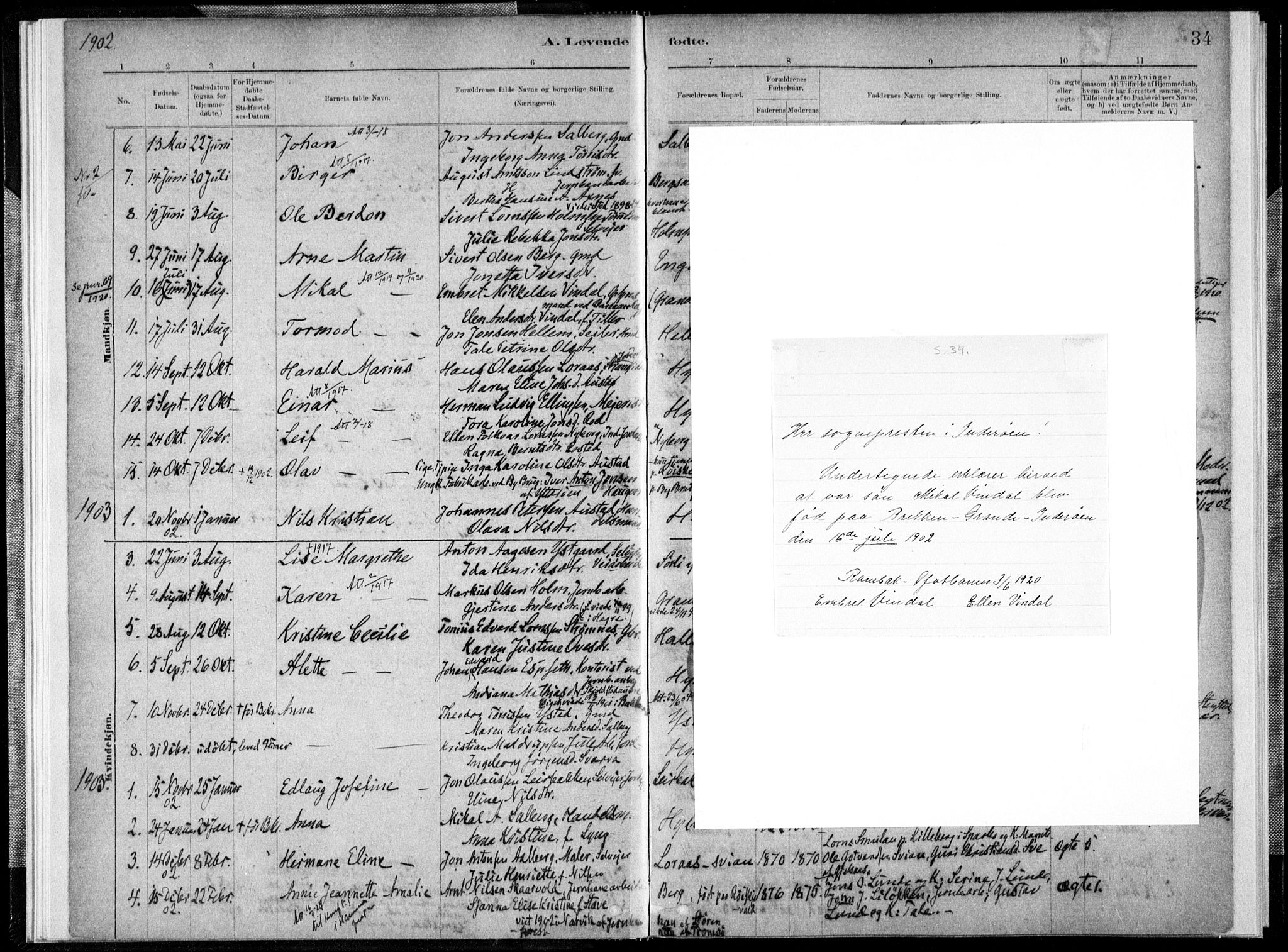 SAT, Ministerialprotokoller, klokkerbøker og fødselsregistre - Nord-Trøndelag, 731/L0309: Parish register (official) no. 731A01, 1879-1918, p. 34