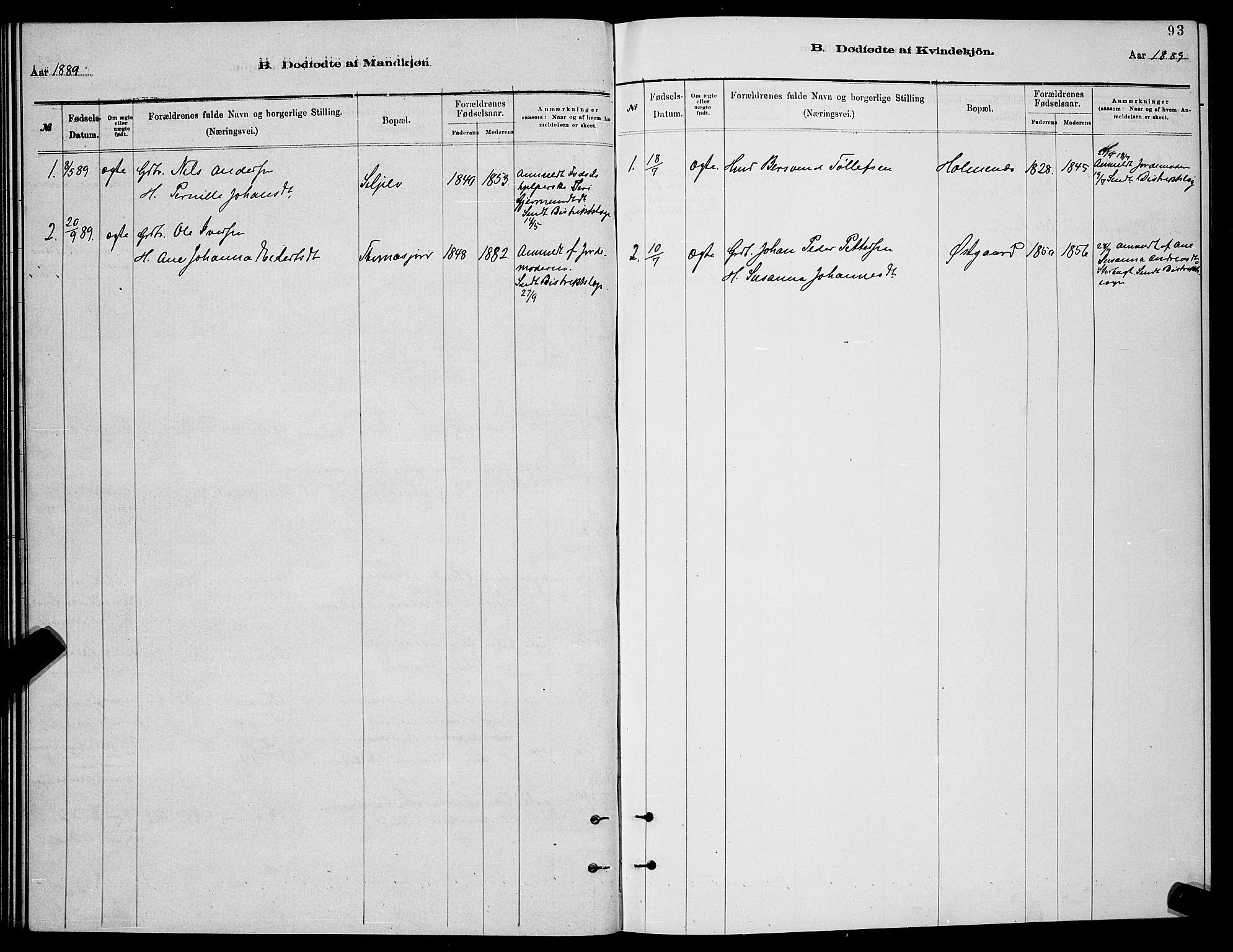 SATØ, Balsfjord sokneprestembete, Parish register (copy) no. 7, 1878-1889, p. 93