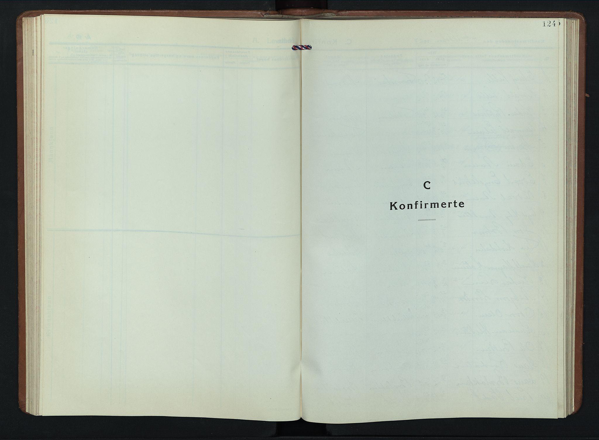 SAH, Dovre prestekontor, Parish register (copy) no. 4, 1926-1949, p. 124