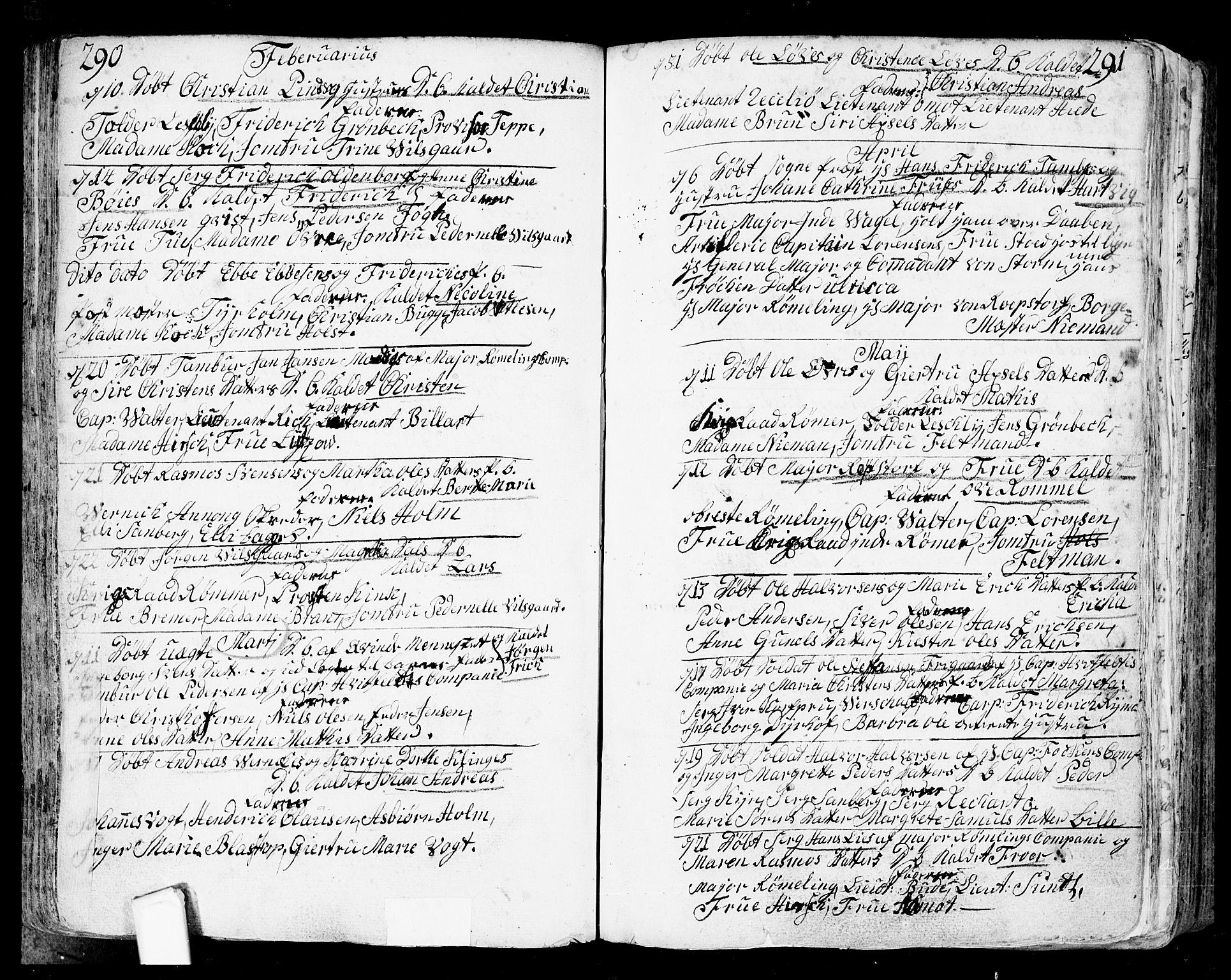 SAO, Fredrikstad prestekontor Kirkebøker, F/Fa/L0002: Parish register (official) no. 2, 1750-1804, p. 290-291