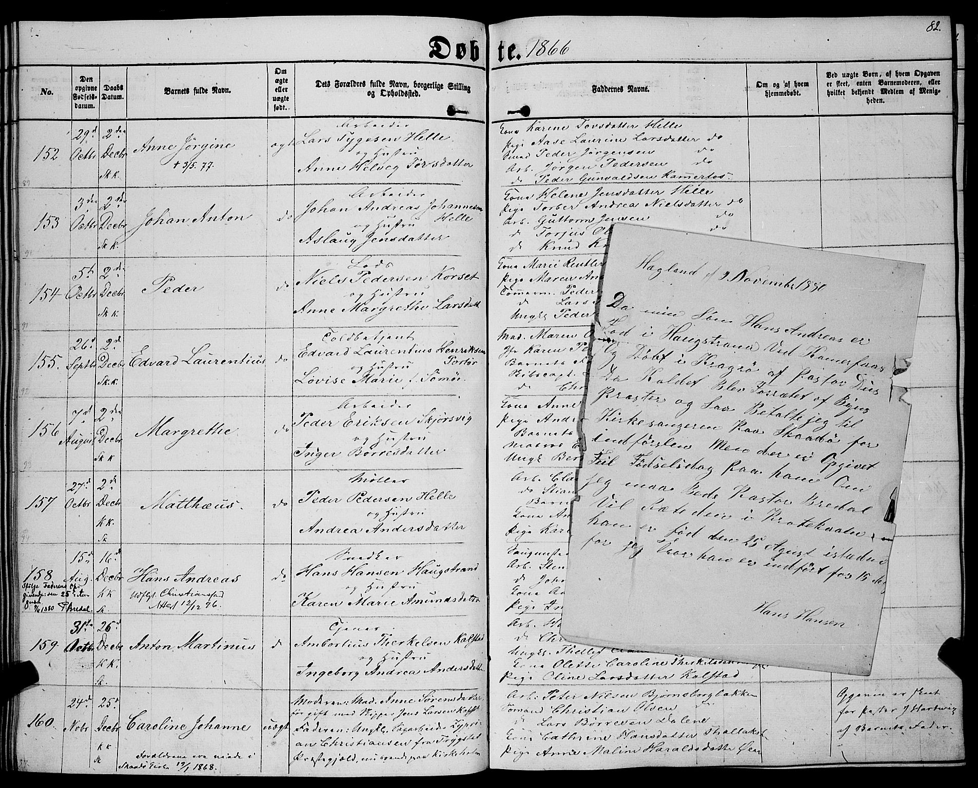 SAKO, Sannidal kirkebøker, F/Fa/L0011: Parish register (official) no. 11, 1863-1873, p. 82
