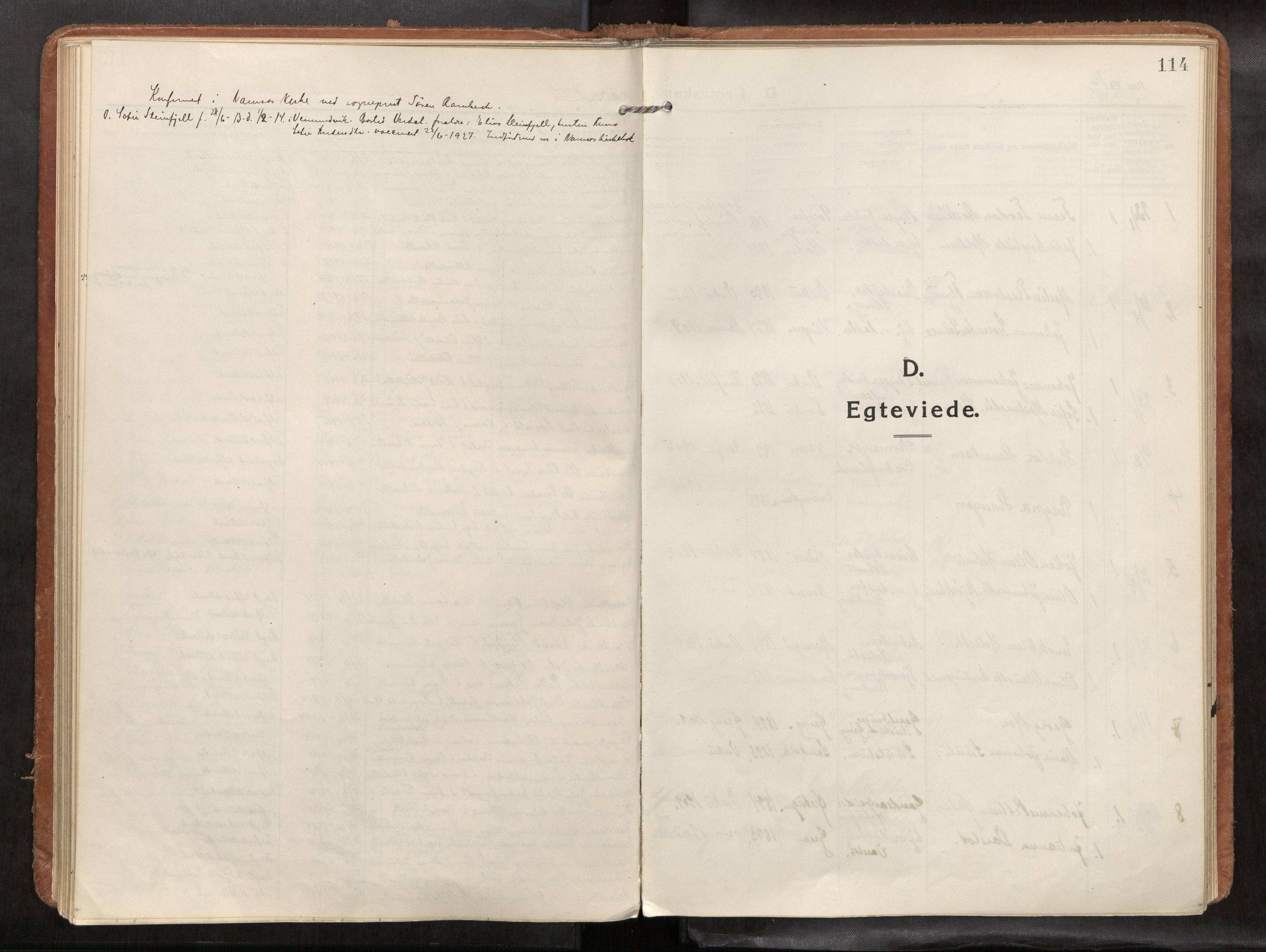 SAT, Verdal sokneprestkontor*, Parish register (official) no. 1, 1916-1928, p. 114
