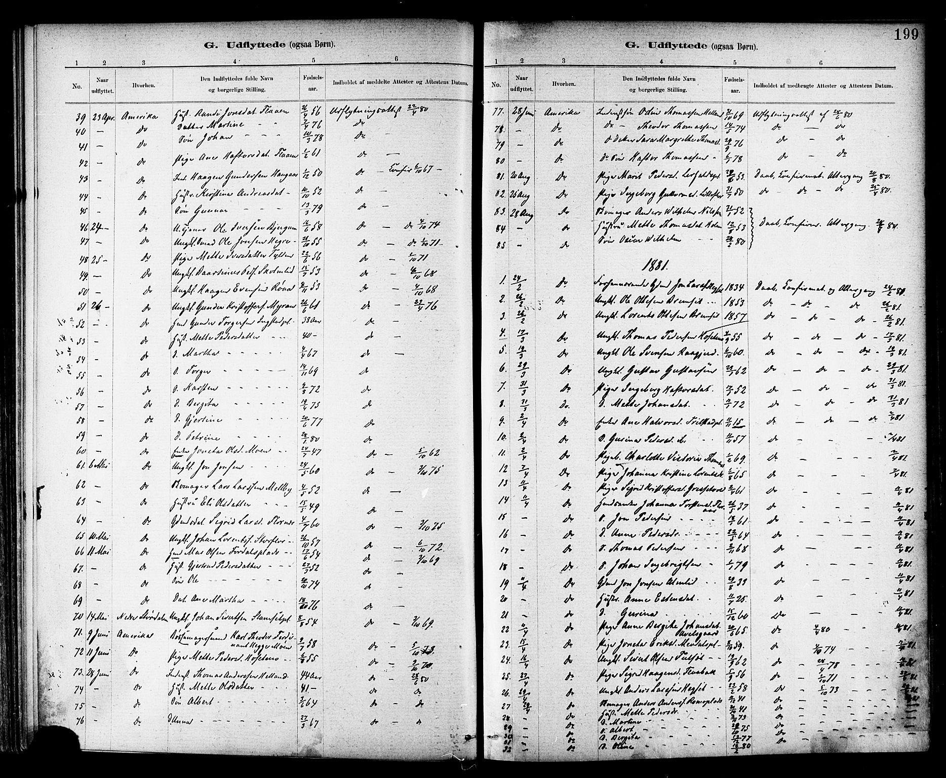 SAT, Ministerialprotokoller, klokkerbøker og fødselsregistre - Nord-Trøndelag, 703/L0030: Parish register (official) no. 703A03, 1880-1892, p. 199